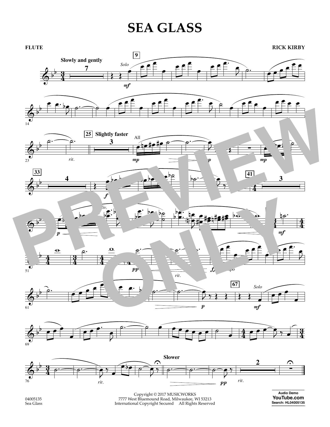 Sea Glass - Flute (Concert Band)