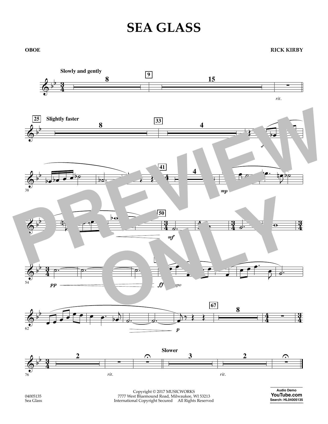 Sea Glass - Oboe (Concert Band)