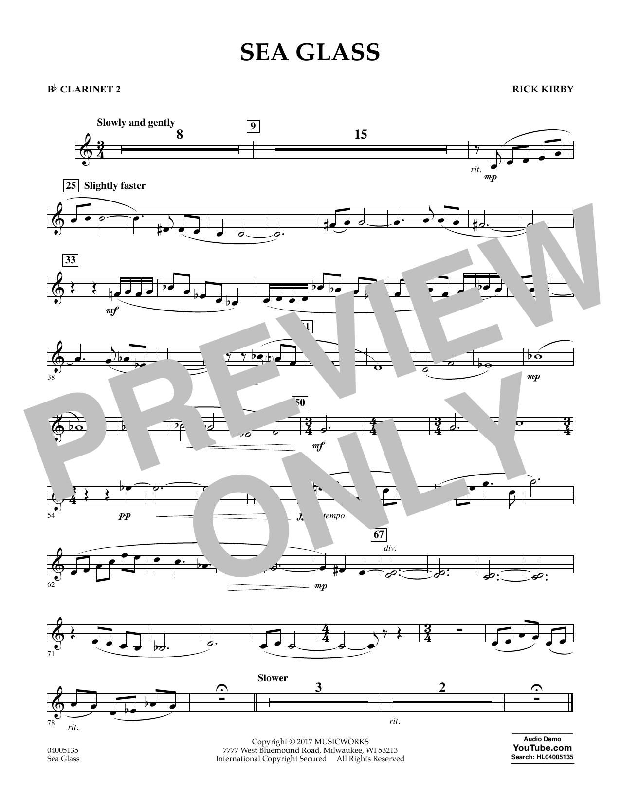 Sea Glass - Bb Clarinet 2 (Concert Band)