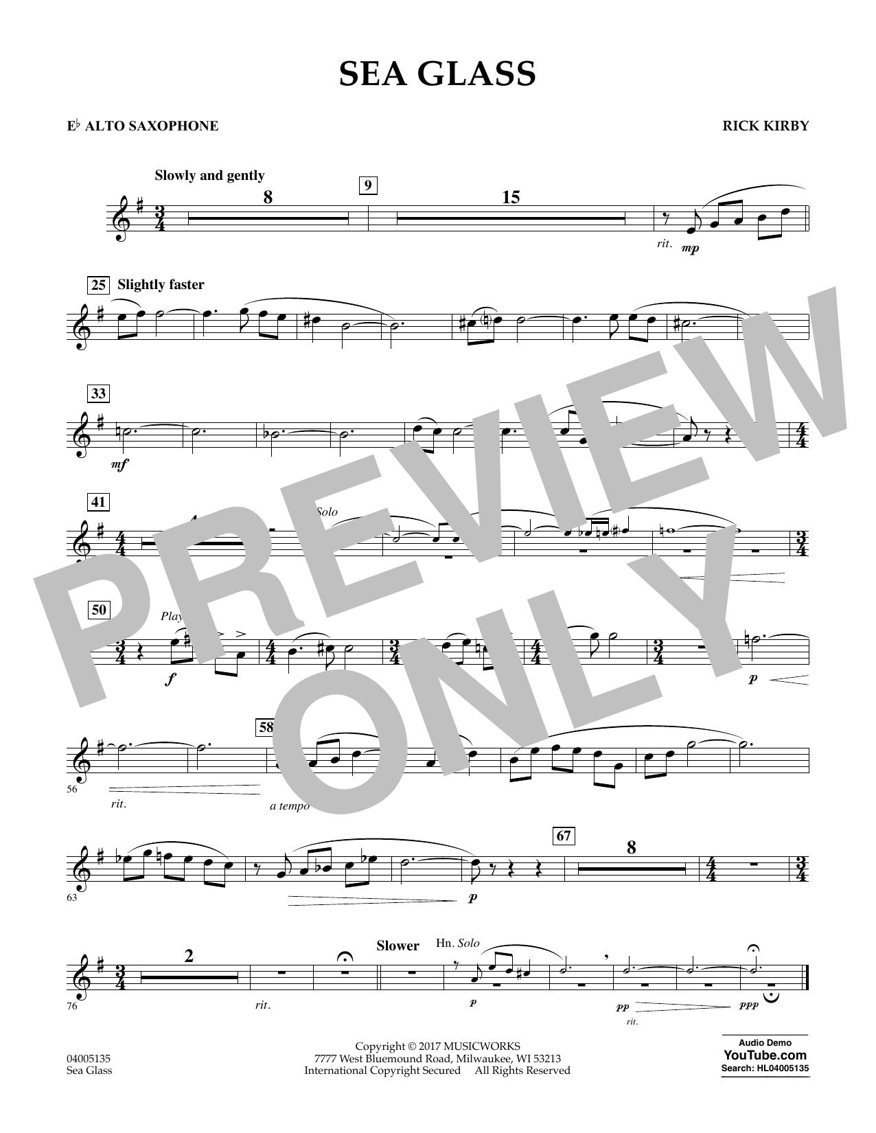 Sea Glass - Eb Alto Saxophone (Concert Band)