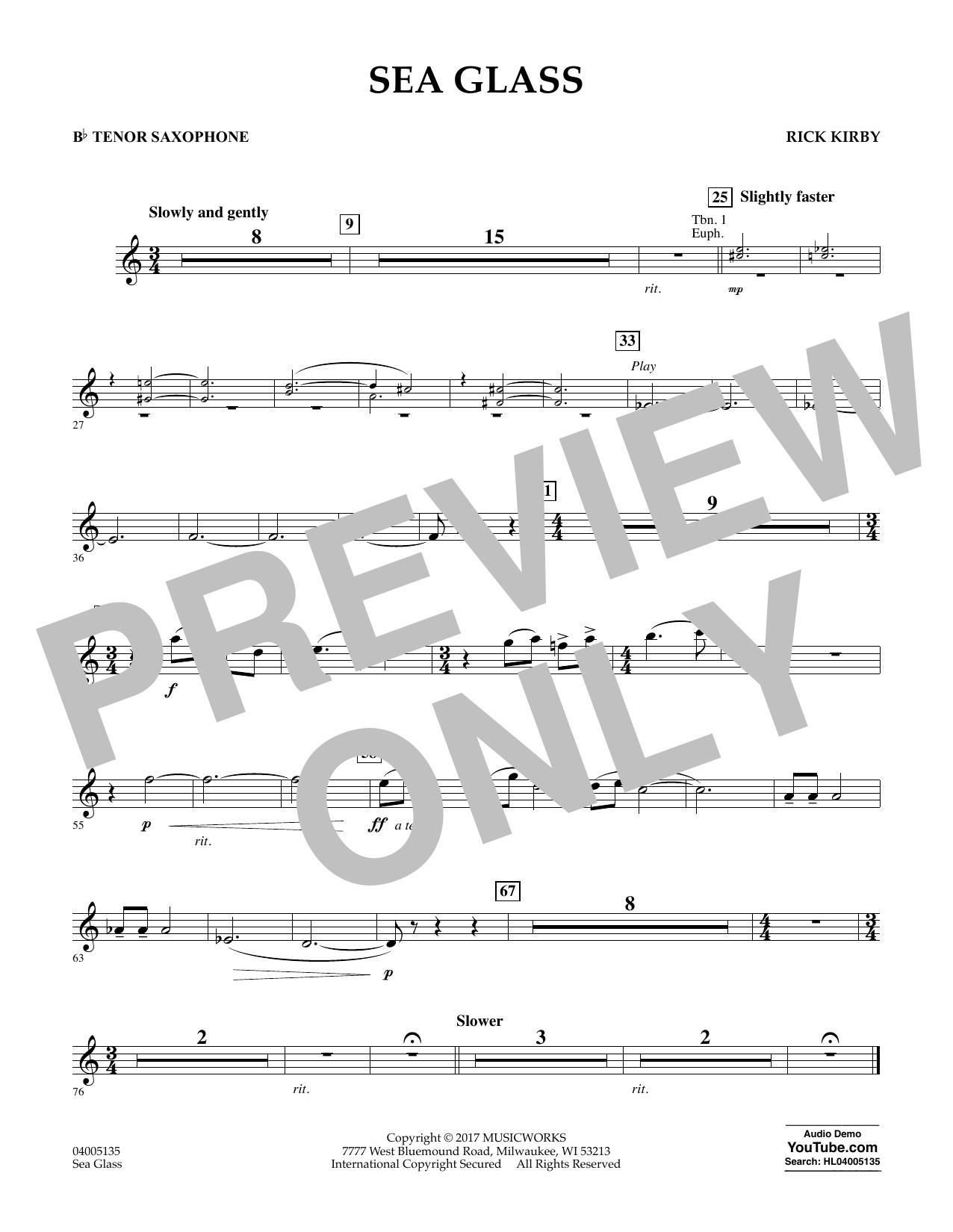 Sea Glass - Bb Tenor Saxophone (Concert Band)