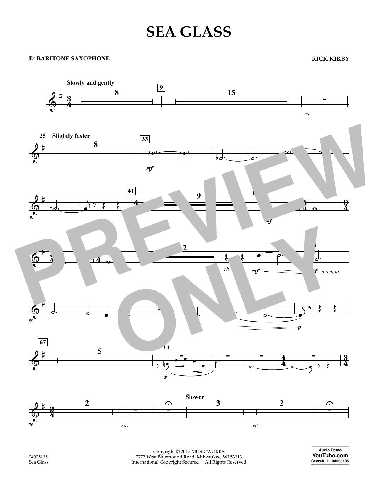 Sea Glass - Eb Baritone Saxophone (Concert Band)