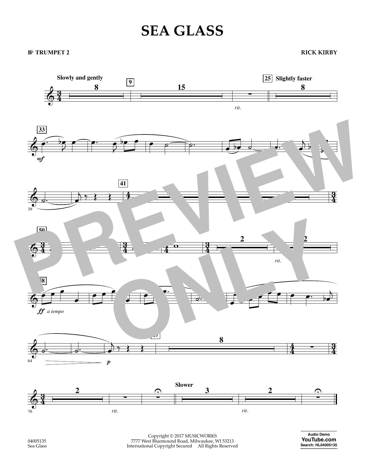 Sea Glass - Bb Trumpet 2 (Concert Band)