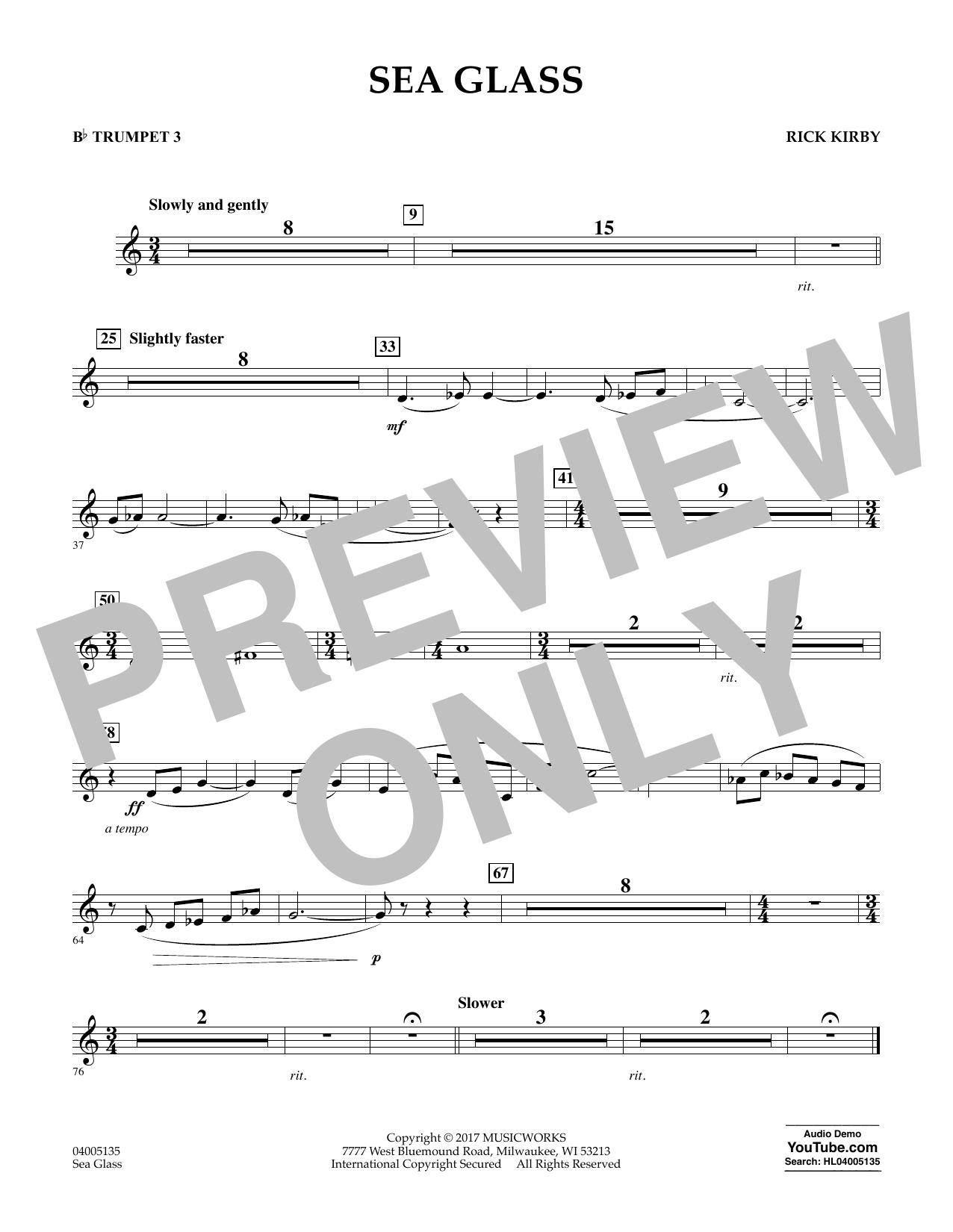 Sea Glass - Bb Trumpet 3 (Concert Band)