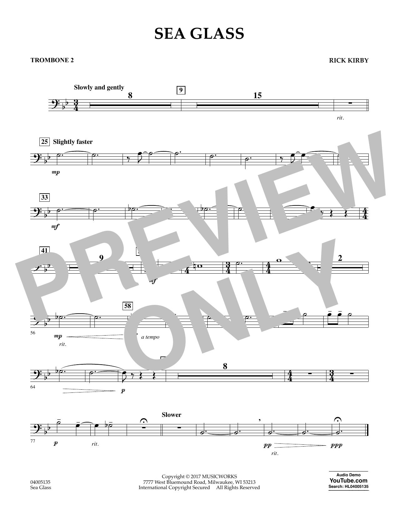 Sea Glass - Trombone 2 (Concert Band)