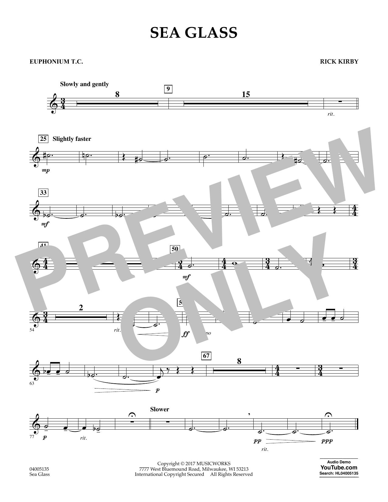 Sea Glass - Euphonium in Treble Clef (Concert Band)