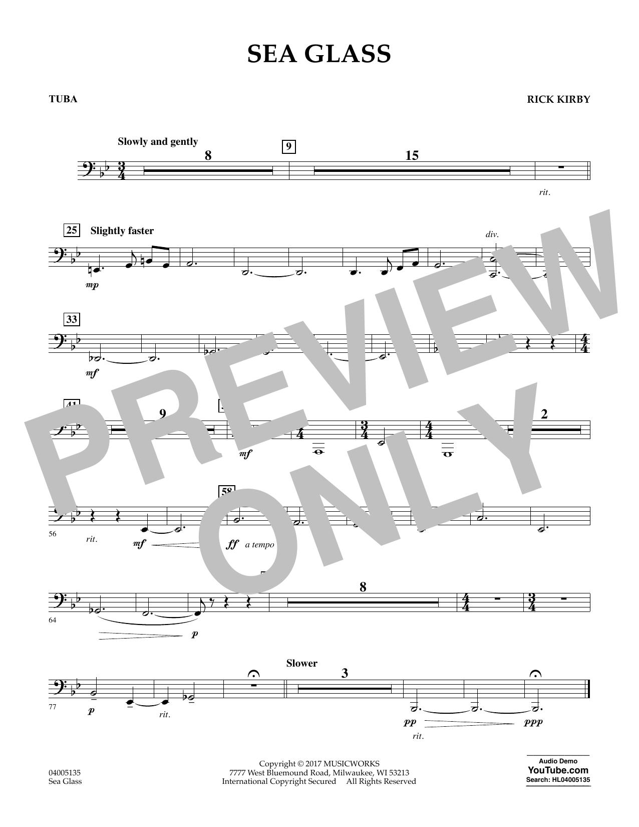 Sea Glass - Tuba (Concert Band)