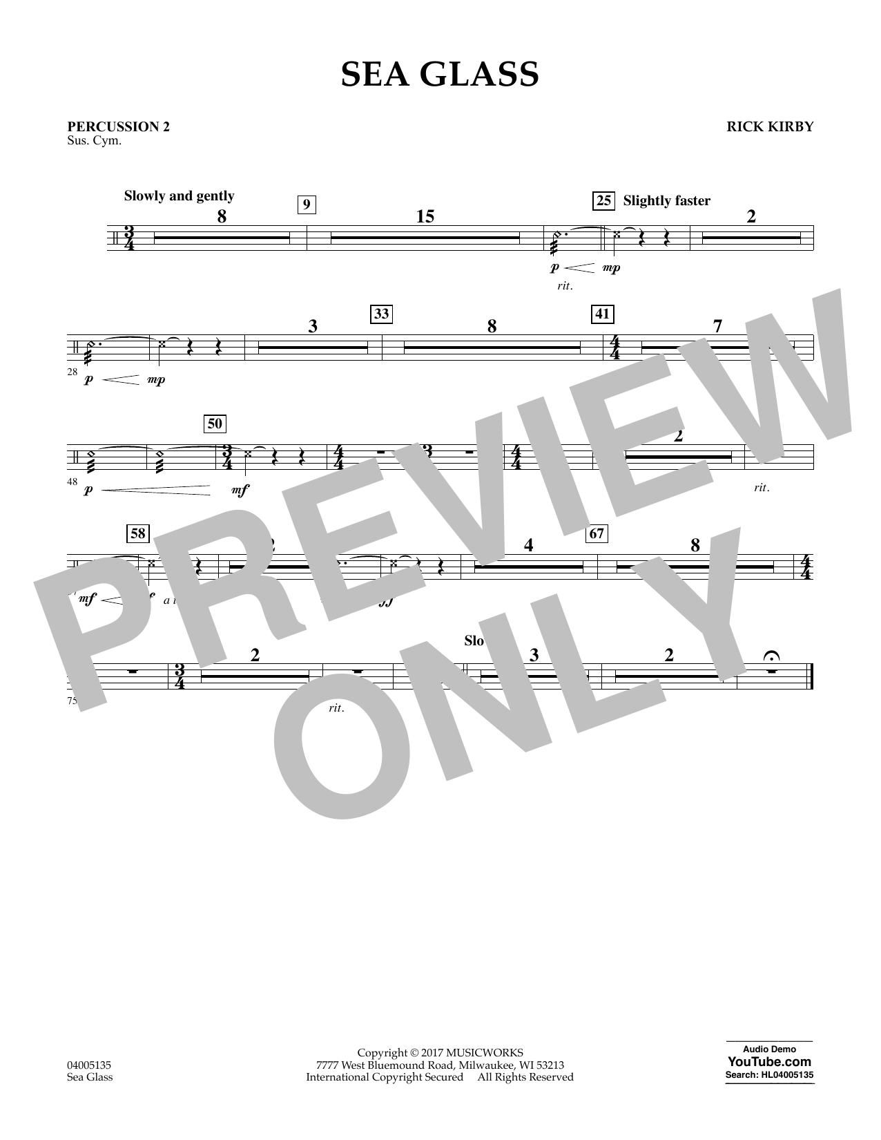 Sea Glass - Percussion 2 (Concert Band)