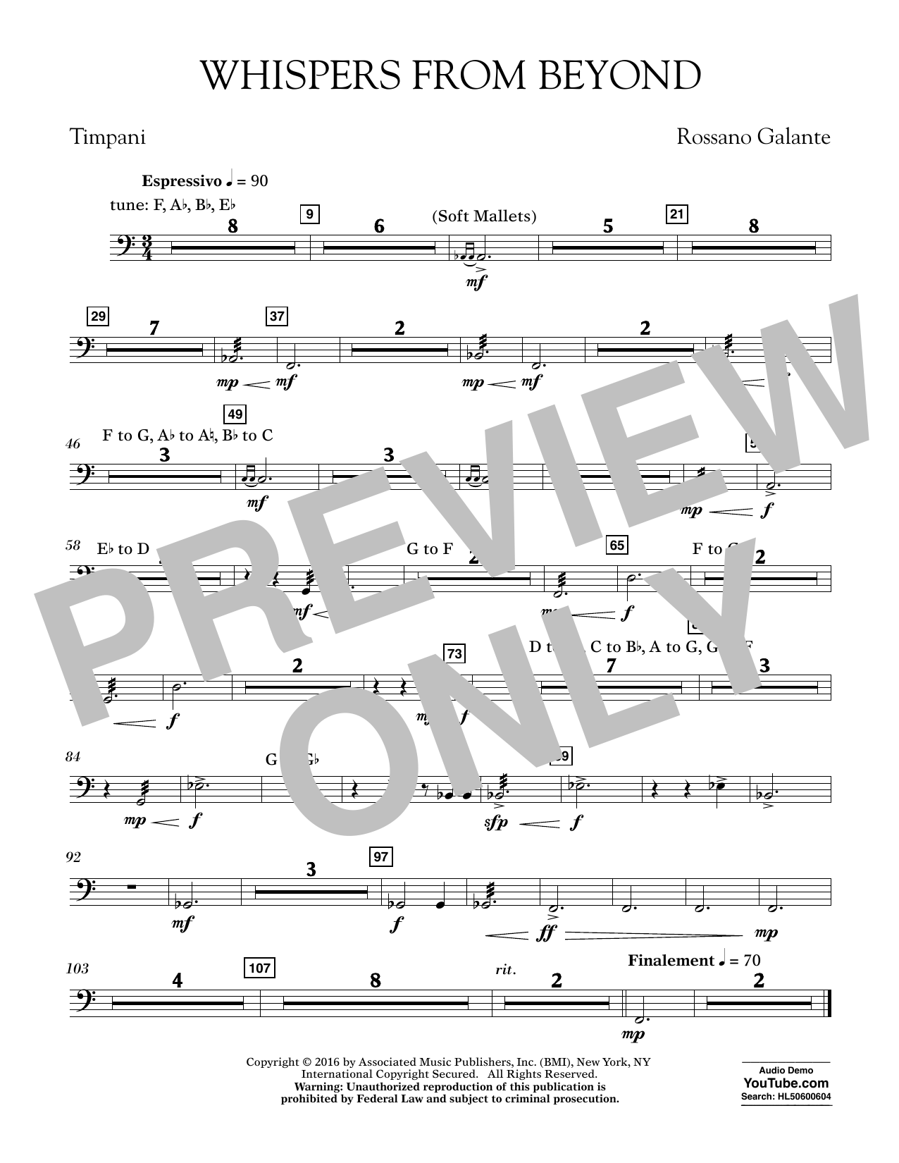Whispers from Beyond - Timpani (Concert Band)