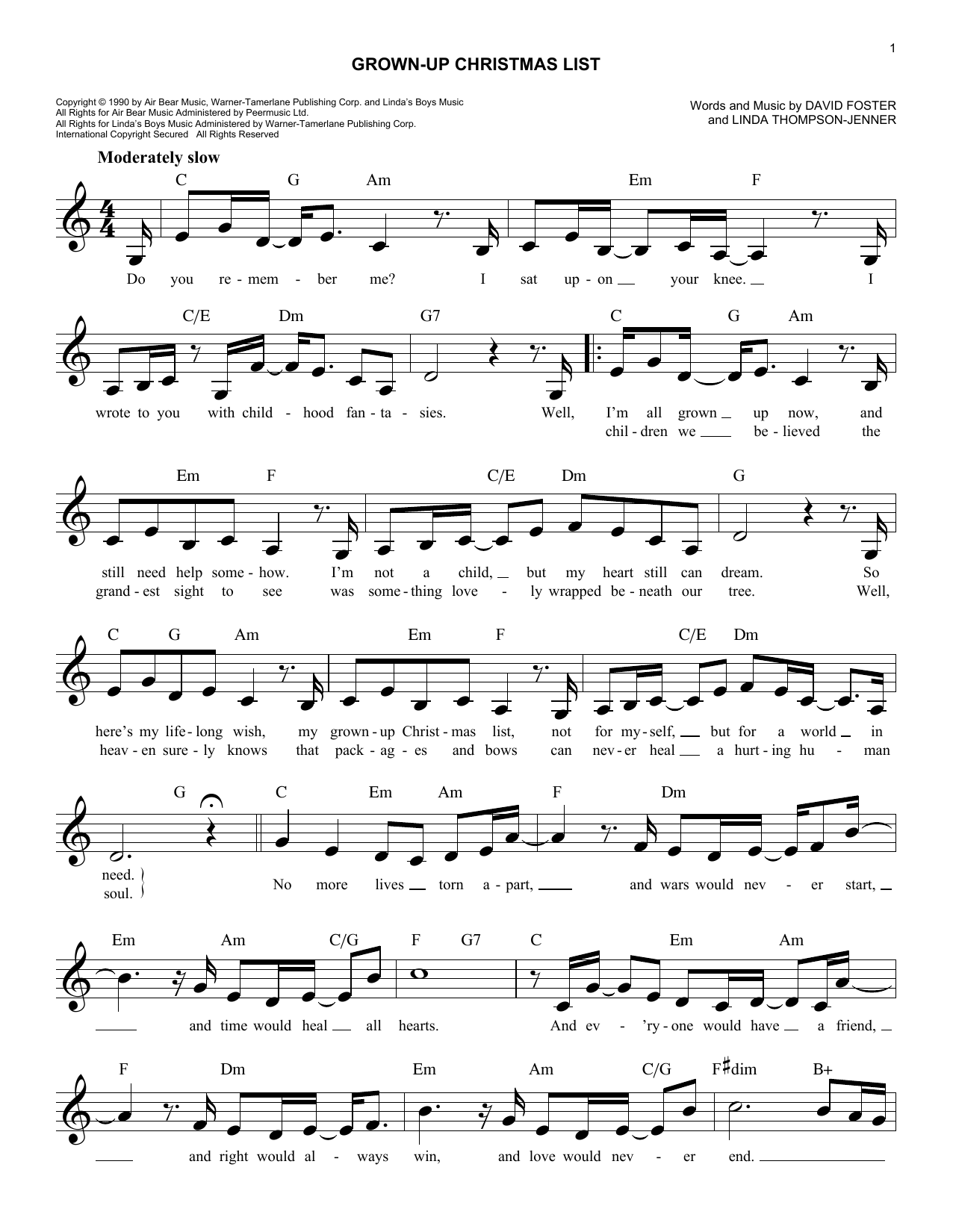 amy grant grown up christmas list at stantons sheet music - Amy Grant Grown Up Christmas List