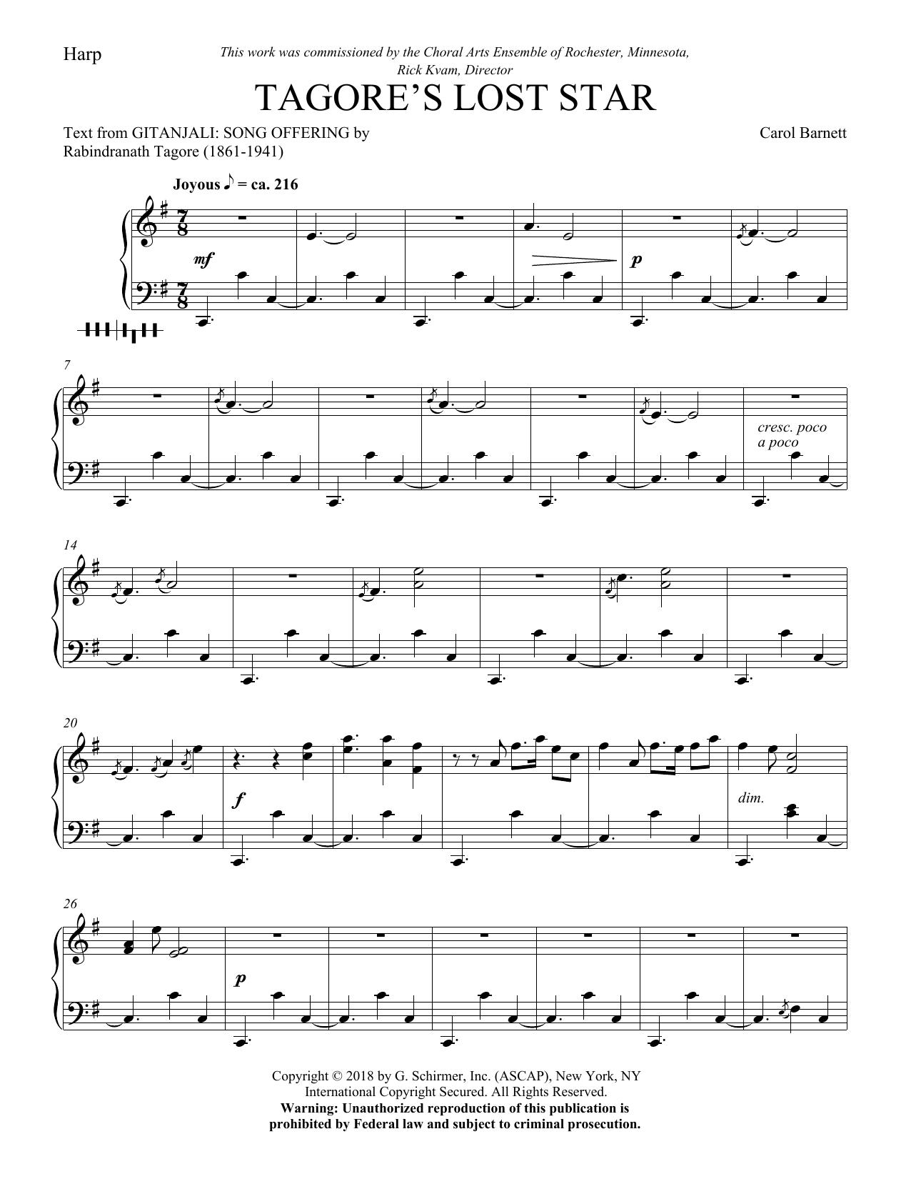 Tagore's Lost Star - Harp (Choir Instrumental Pak)