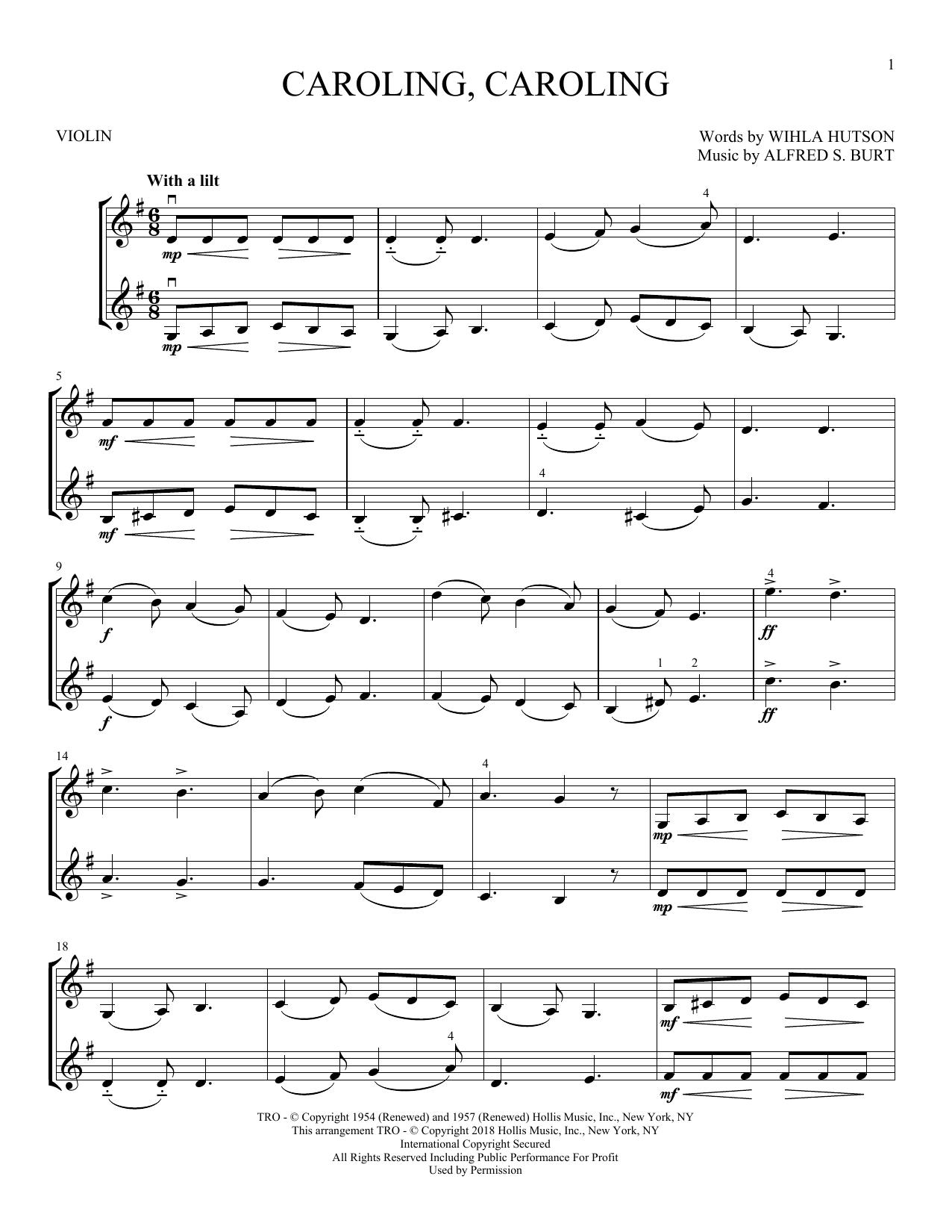 Caroling, Caroling (Violin Duet)