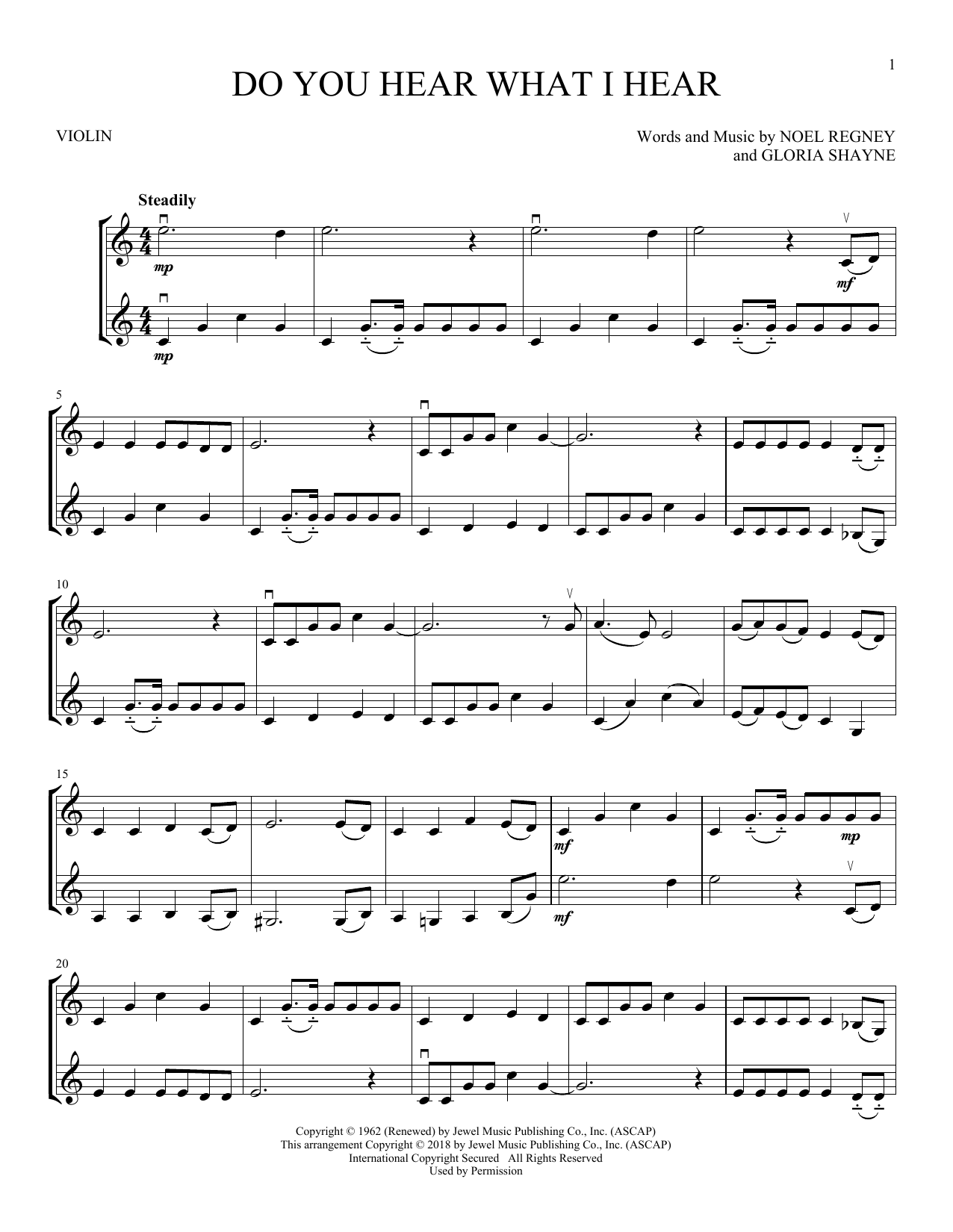 Do You Hear What I Hear (Violin Duet)