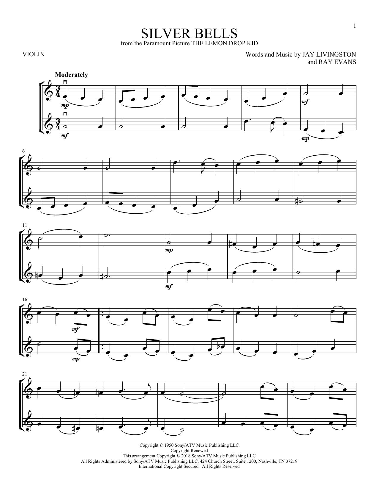 Silver Bells (Violin Duet)