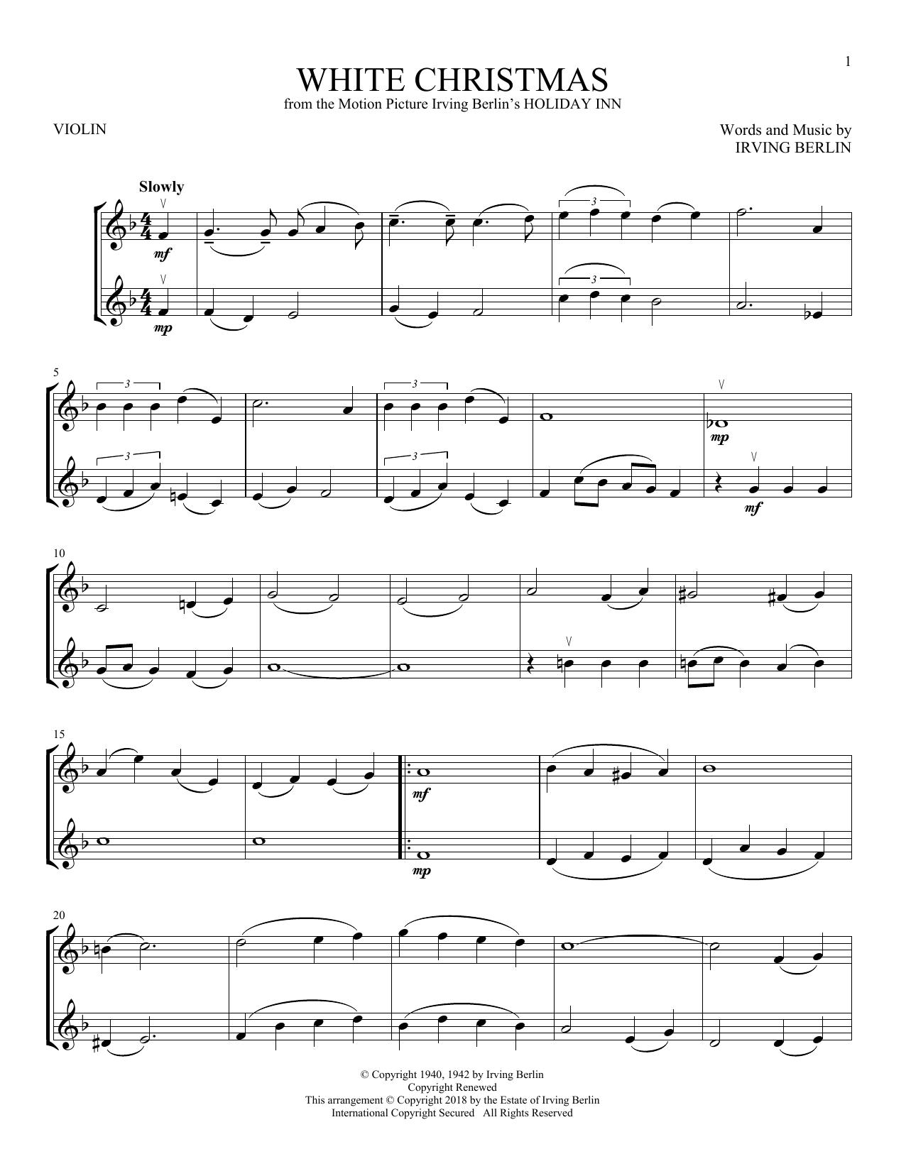 White Christmas (Violin Duet)