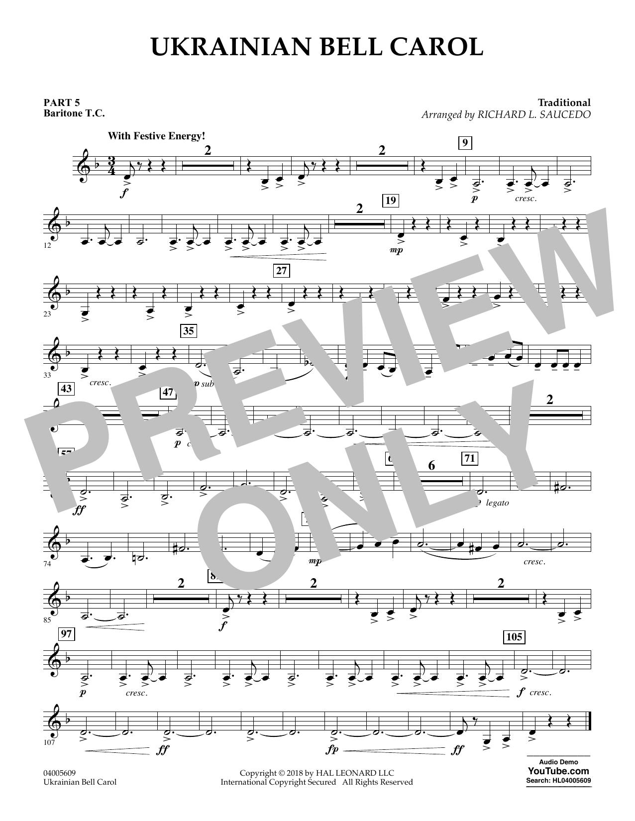 Ukrainian Bell Carol - Pt.5 - Baritone T.C. (Concert Band)