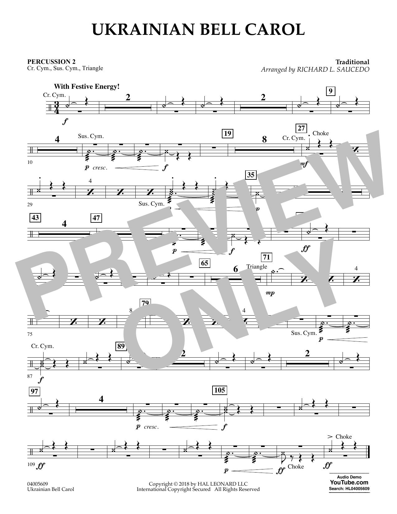 Ukrainian Bell Carol - Percussion 2 (Concert Band)