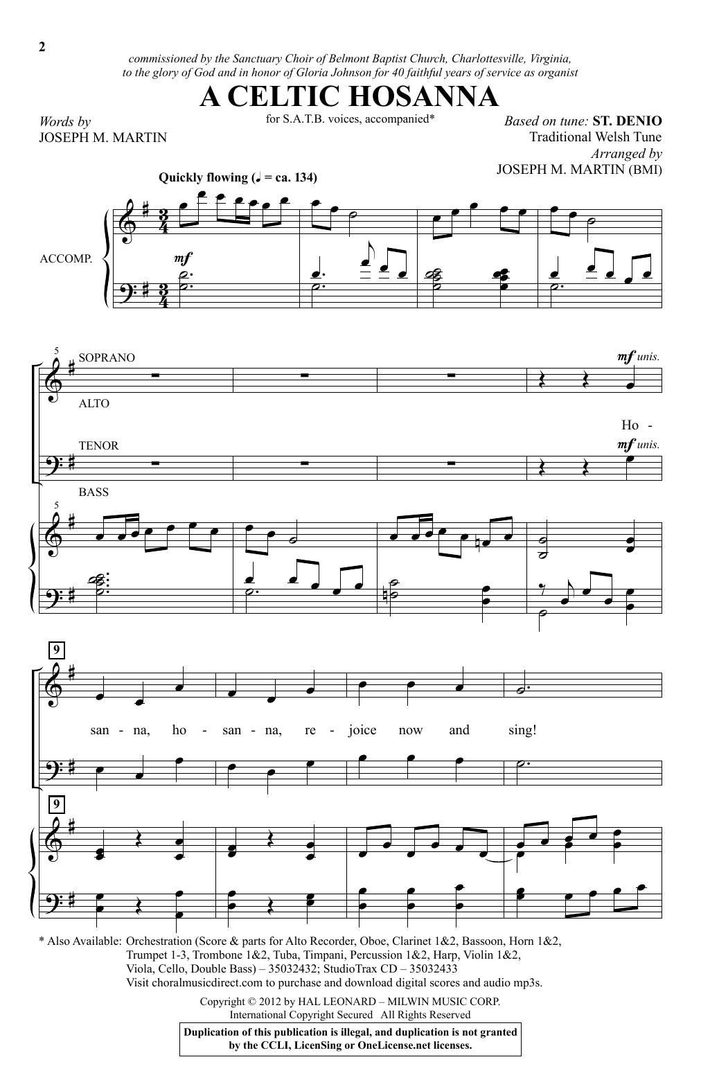 A Celtic Hosanna (SATB Choir)