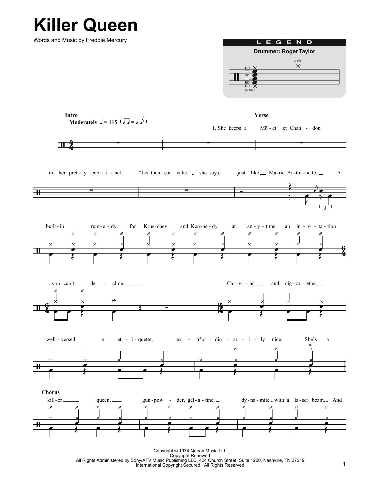 Killer Queen (Drums Transcription)