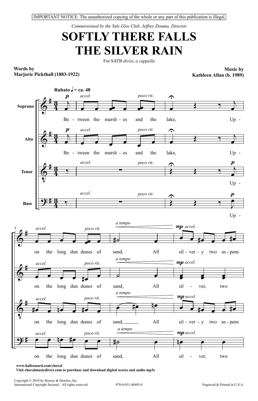 Softly There Falls The Silver Rain (SATB Choir)