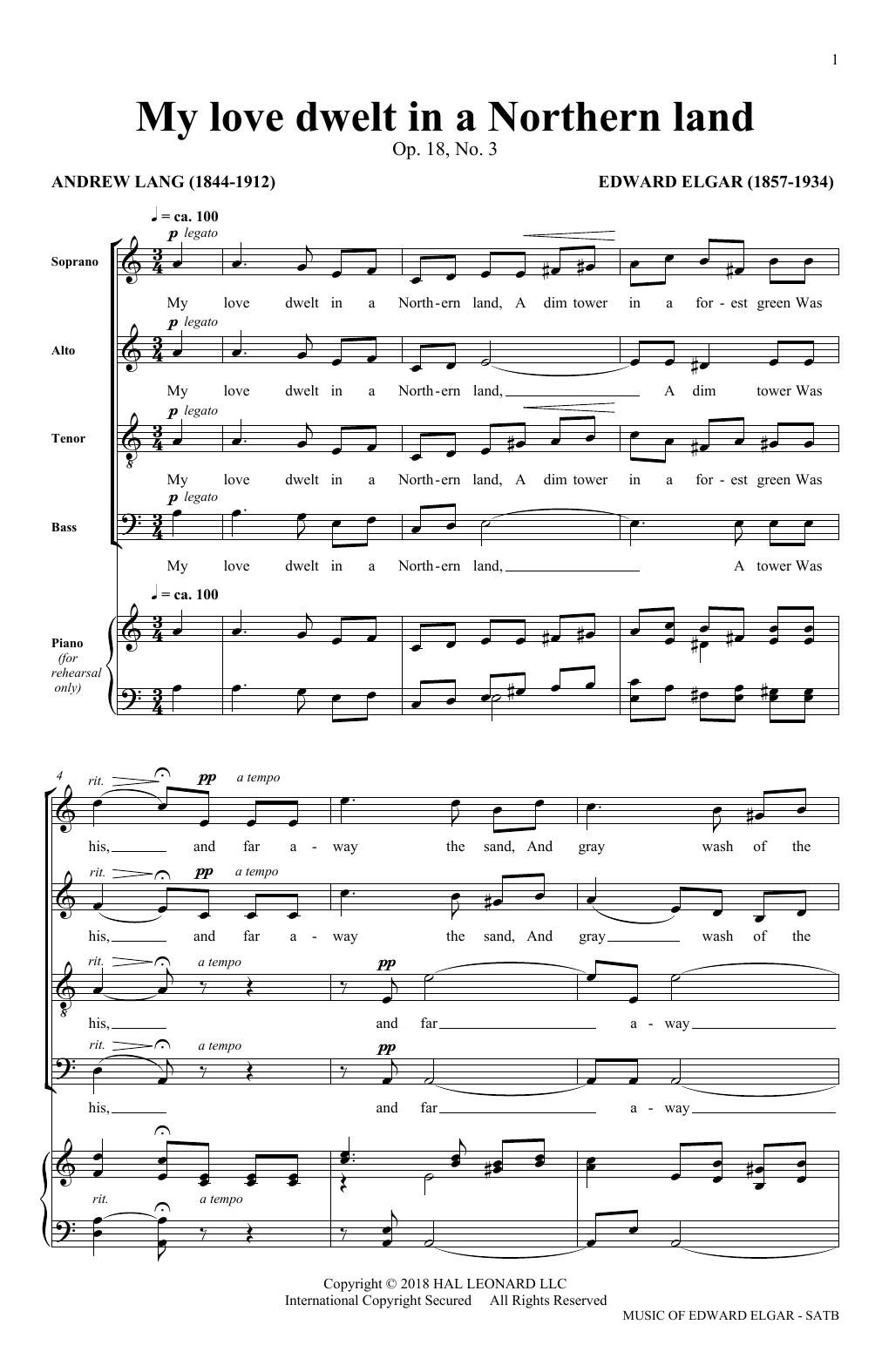 My Love Dwelt (arr. Philip Lawson) (SATB Choir)