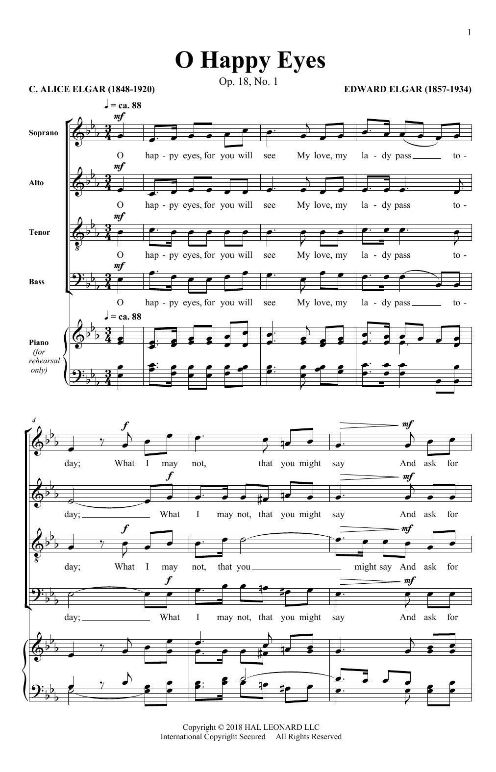O Happy Eyes (SATB Choir)