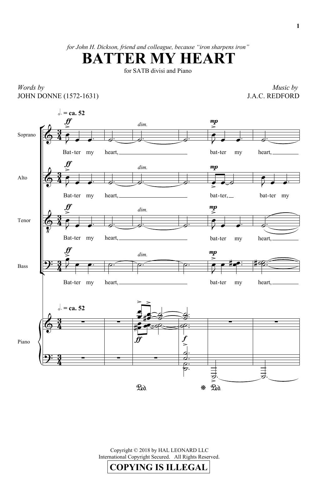 Batter My Heart (SATB Choir)
