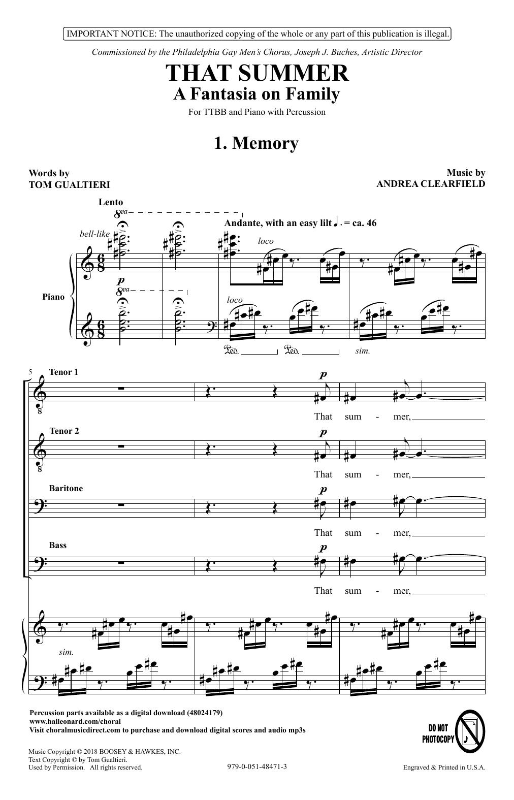 That Summer: A Fantasia On Family (TTBB Choir)