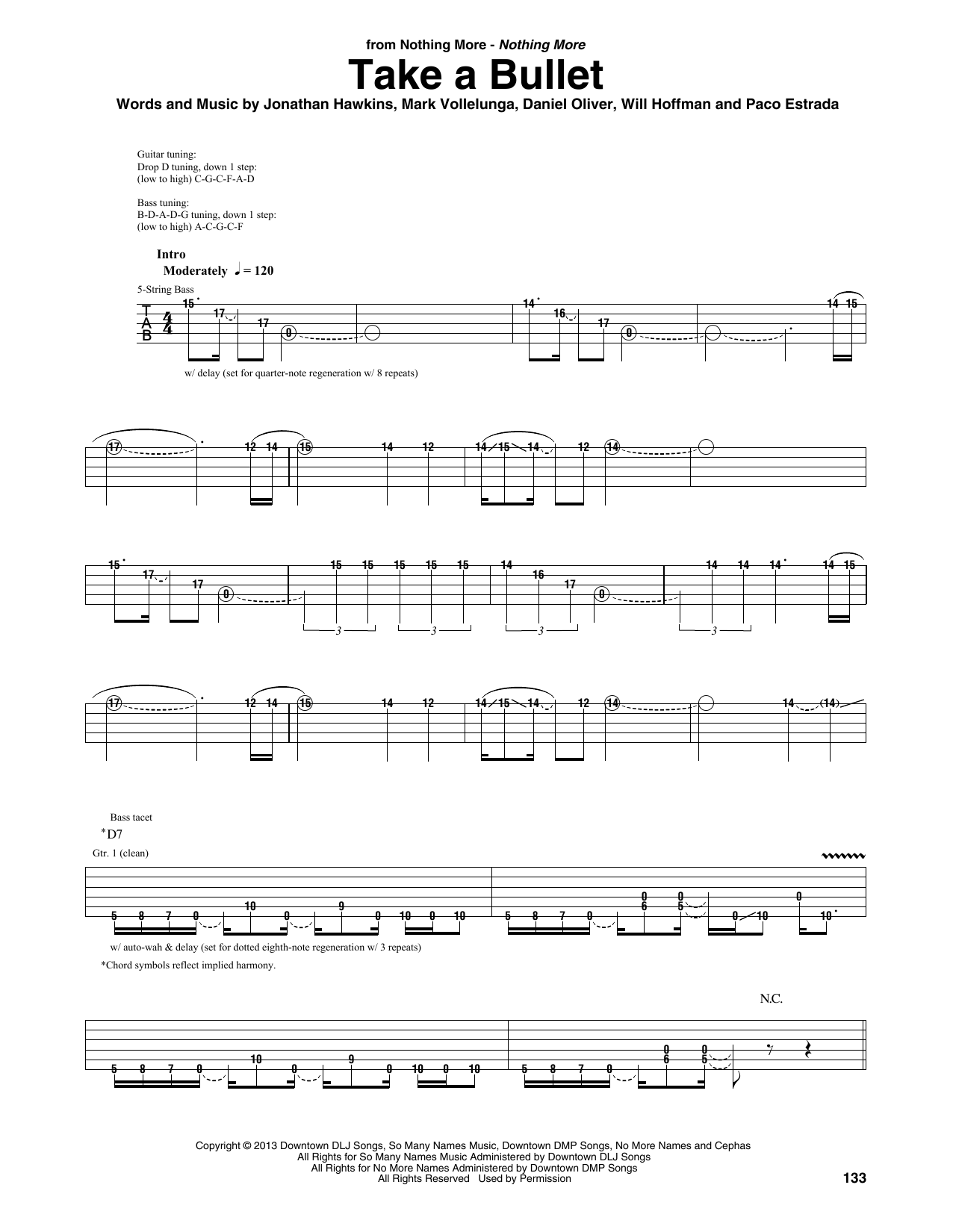 Take A Bullet (Guitar Rhythm Tab)