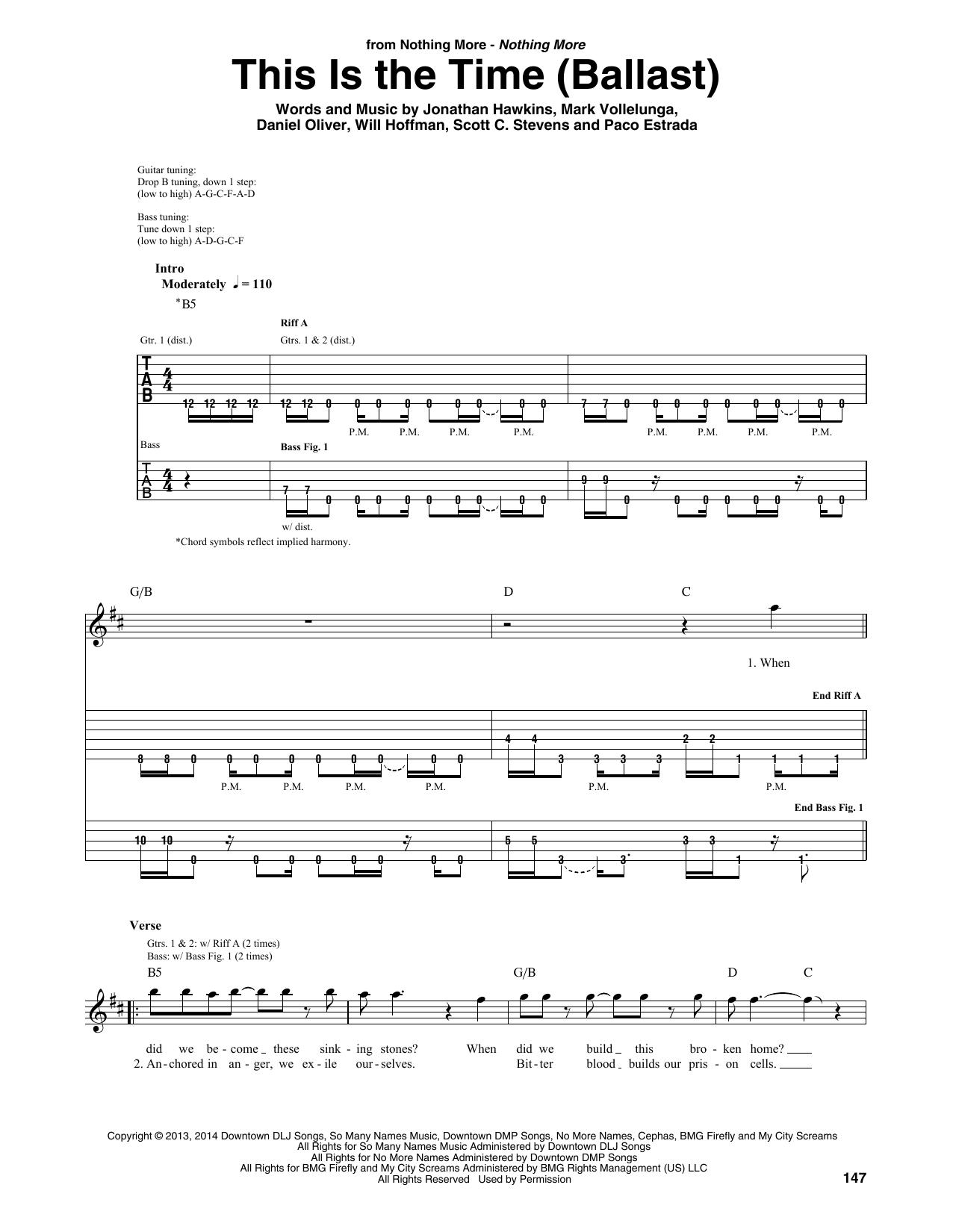 This Is The Time (Ballast) (Guitar Rhythm Tab)