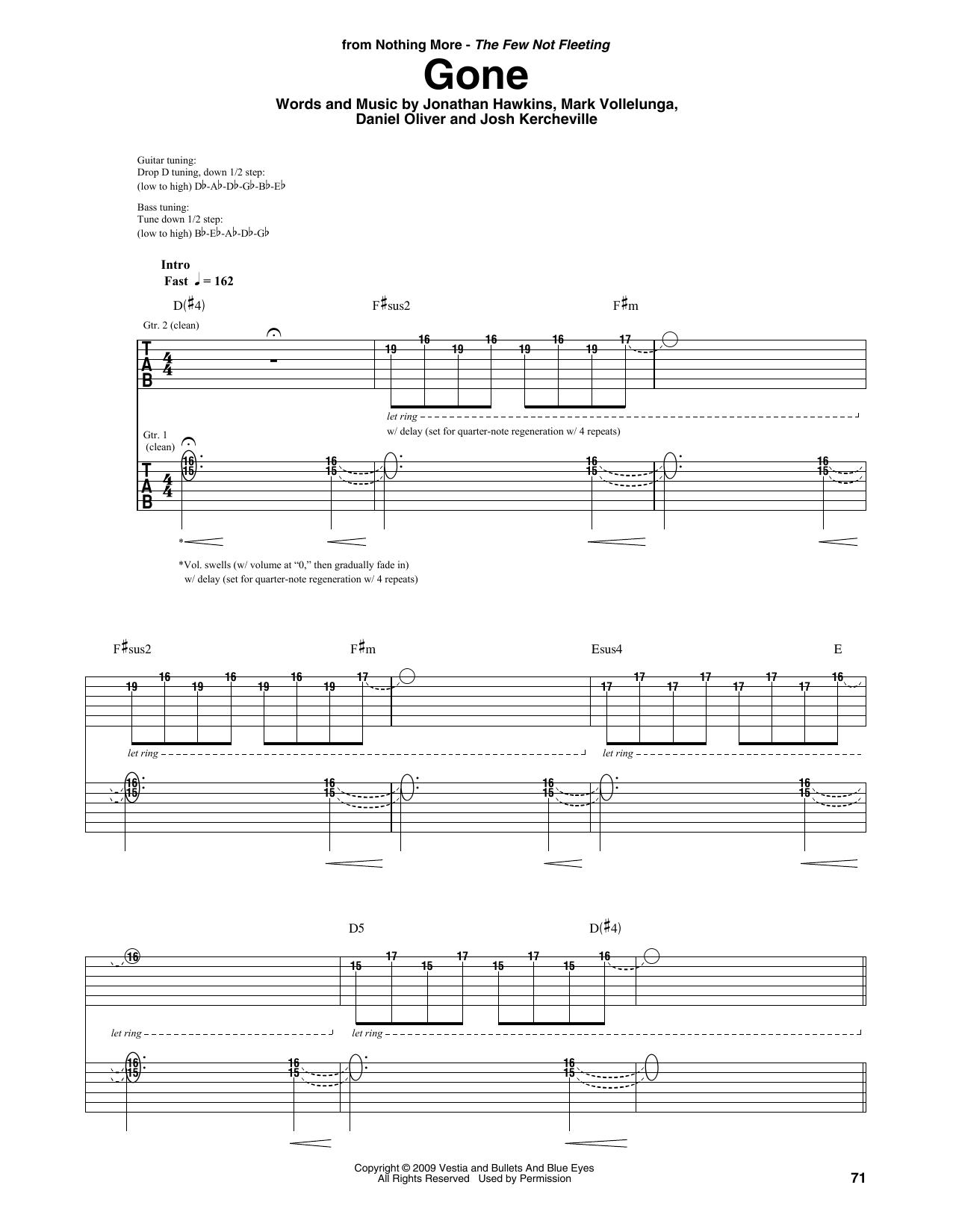 Gone (Guitar Rhythm Tab)