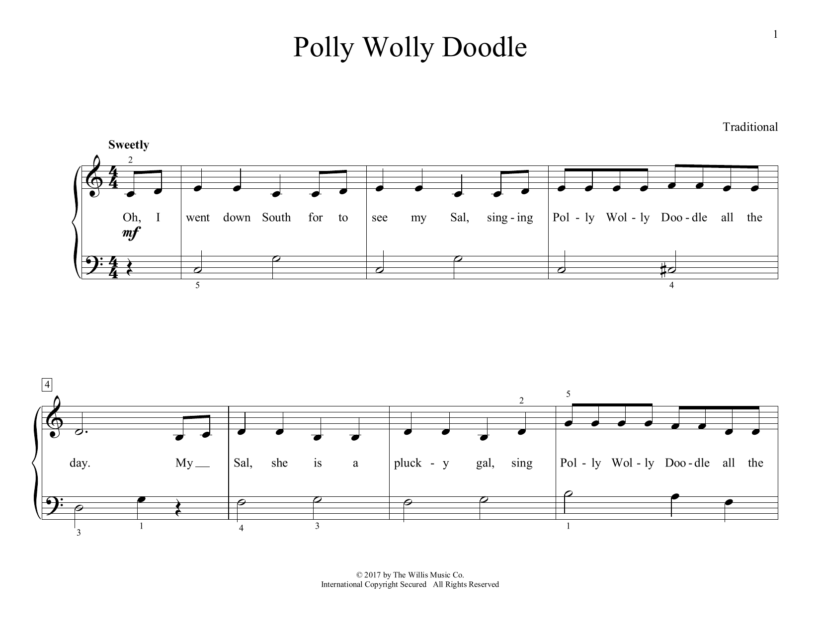 Polly Wolly Doodle (arr. Christopher Hussey) (Educational Piano)