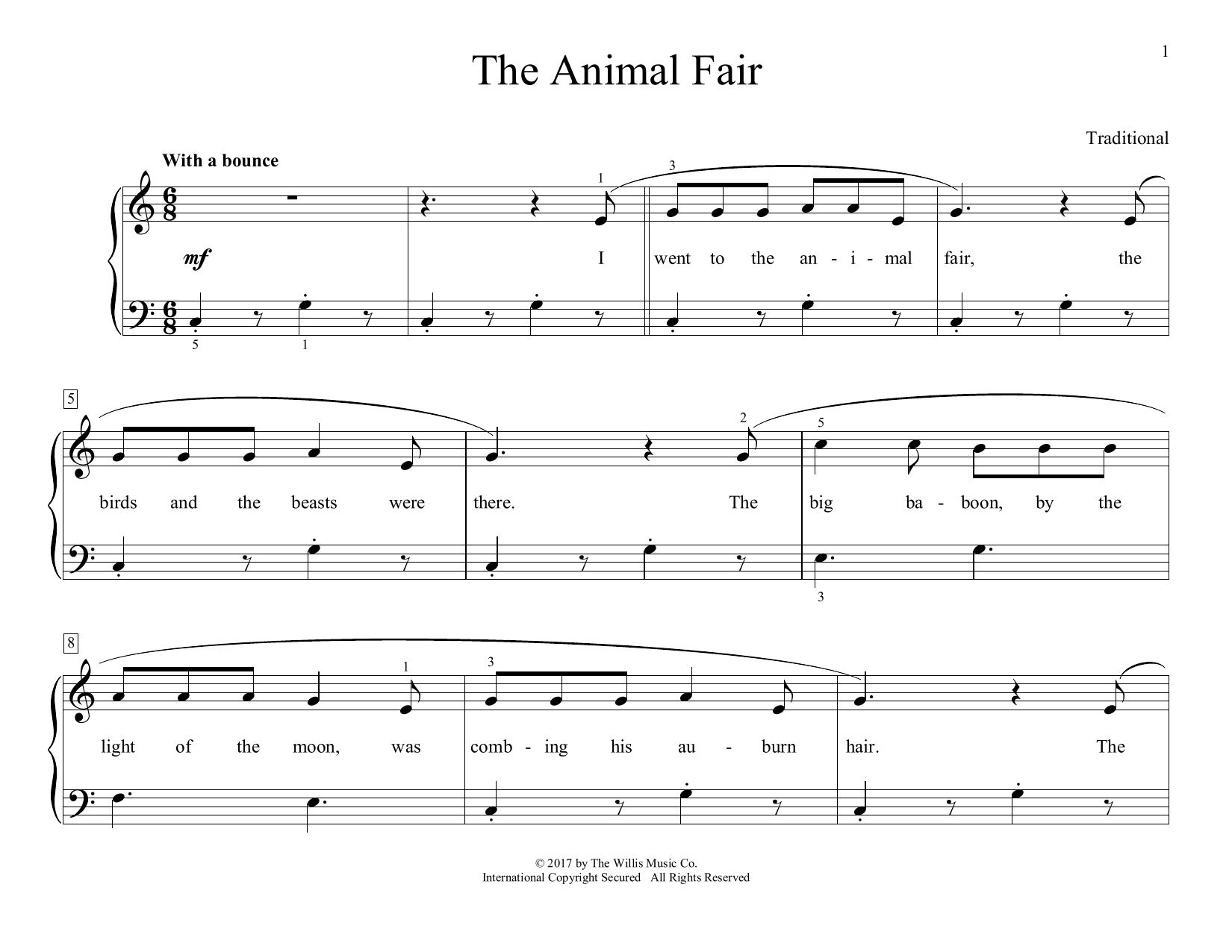 The Animal Fair (arr. Christopher Hussey) (Educational Piano)