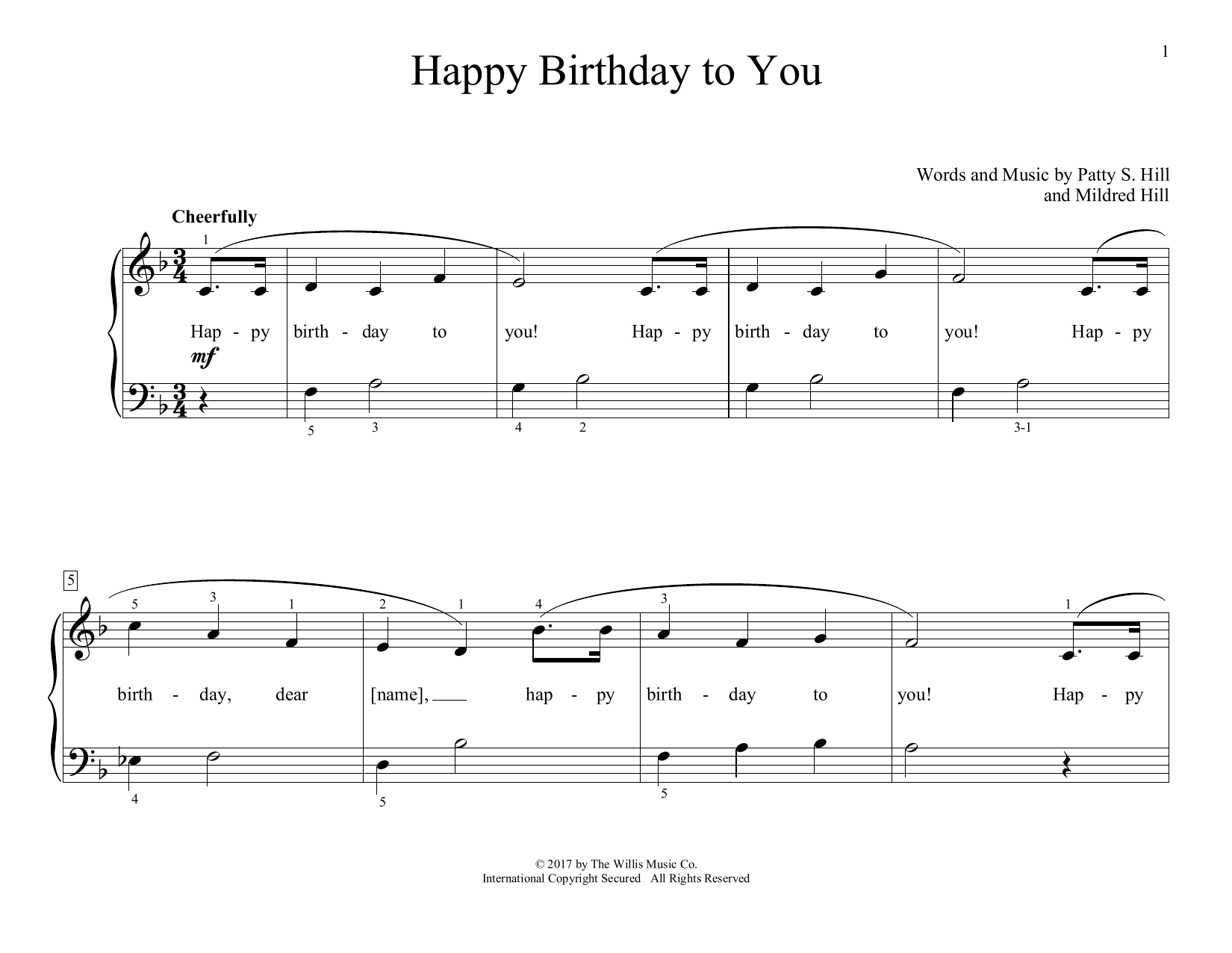 Happy Birthday To You (arr. Christopher Hussey) (Educational Piano)