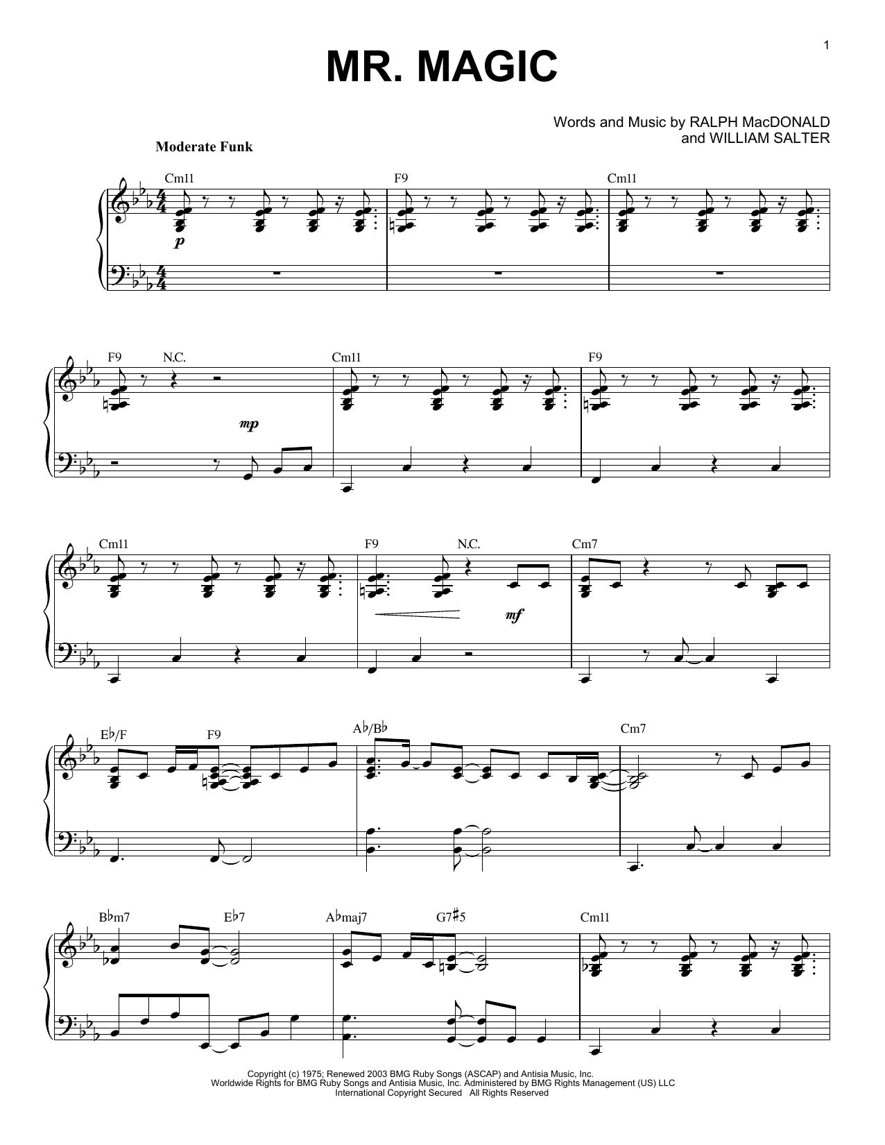 Mr. Magic (Piano Solo)