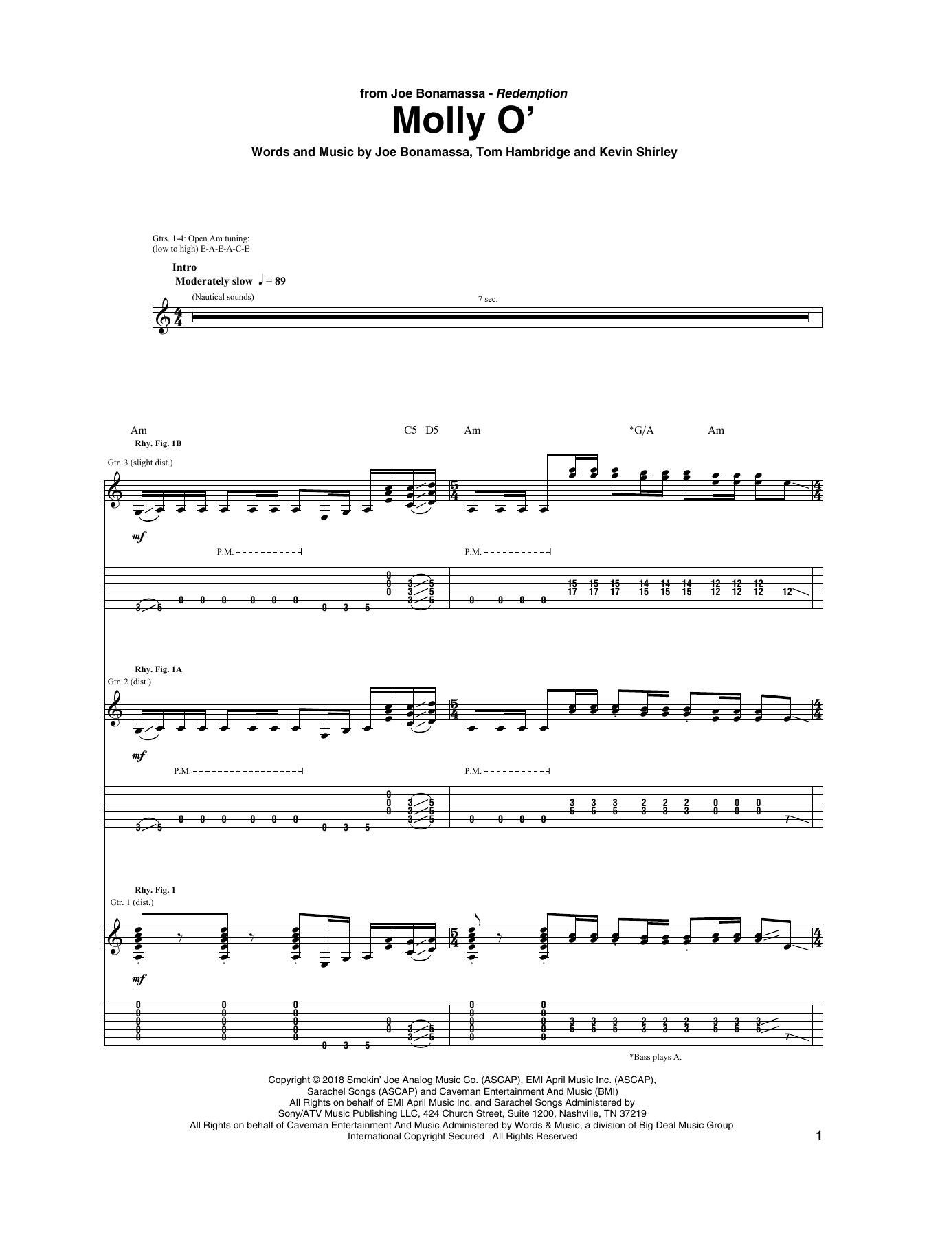 Molly O' (Guitar Tab)