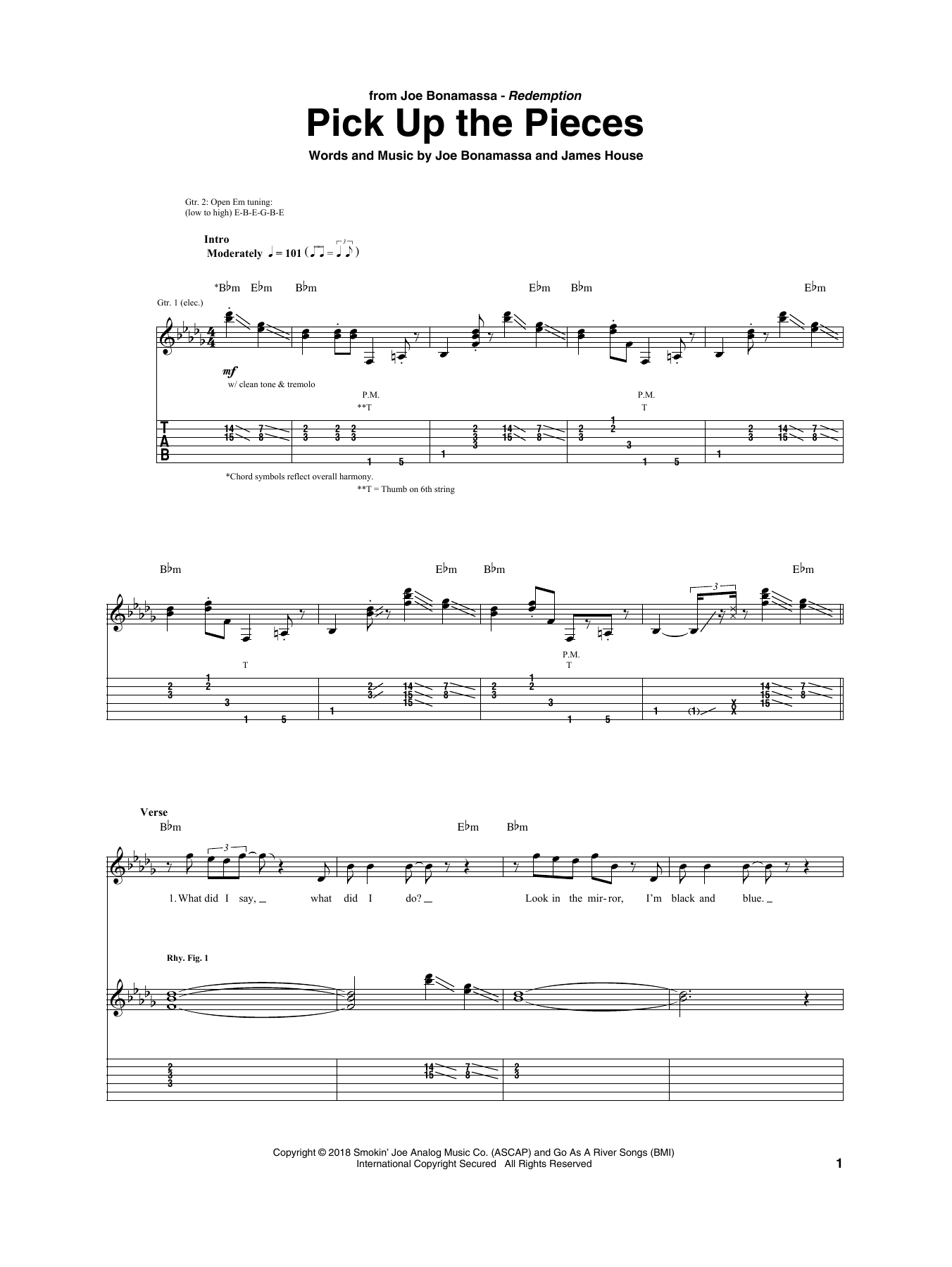 Pick Up The Pieces (Guitar Tab)