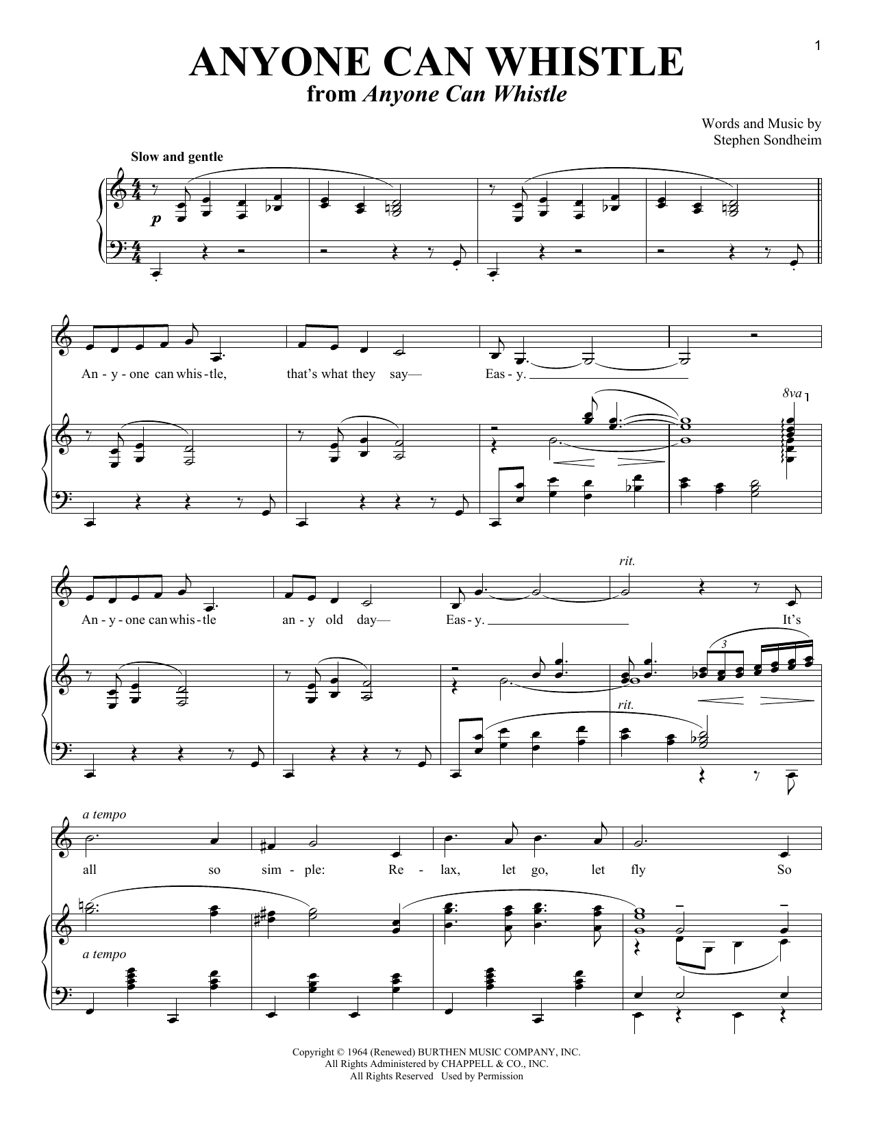 Anyone Can Whistle (Piano & Vocal)
