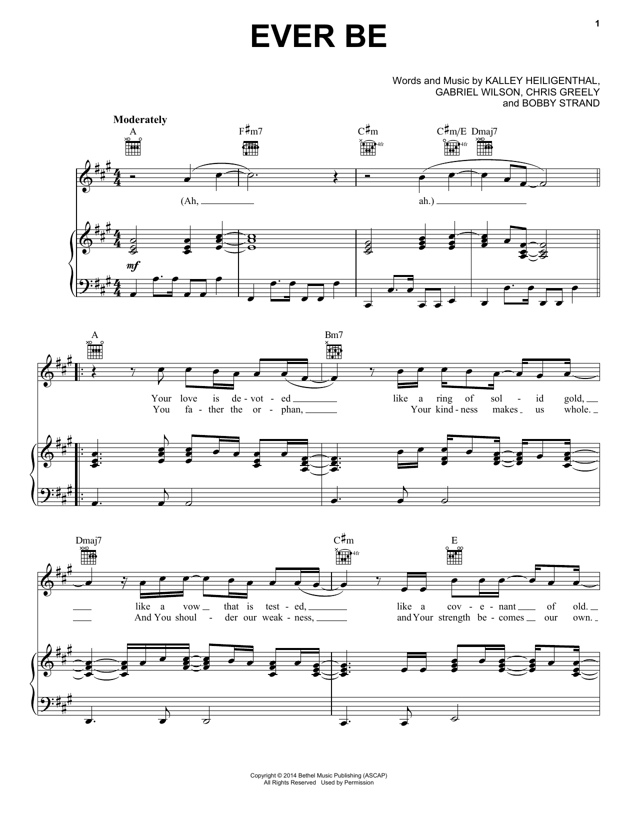Ever Be (Piano, Vocal & Guitar (Right-Hand Melody))