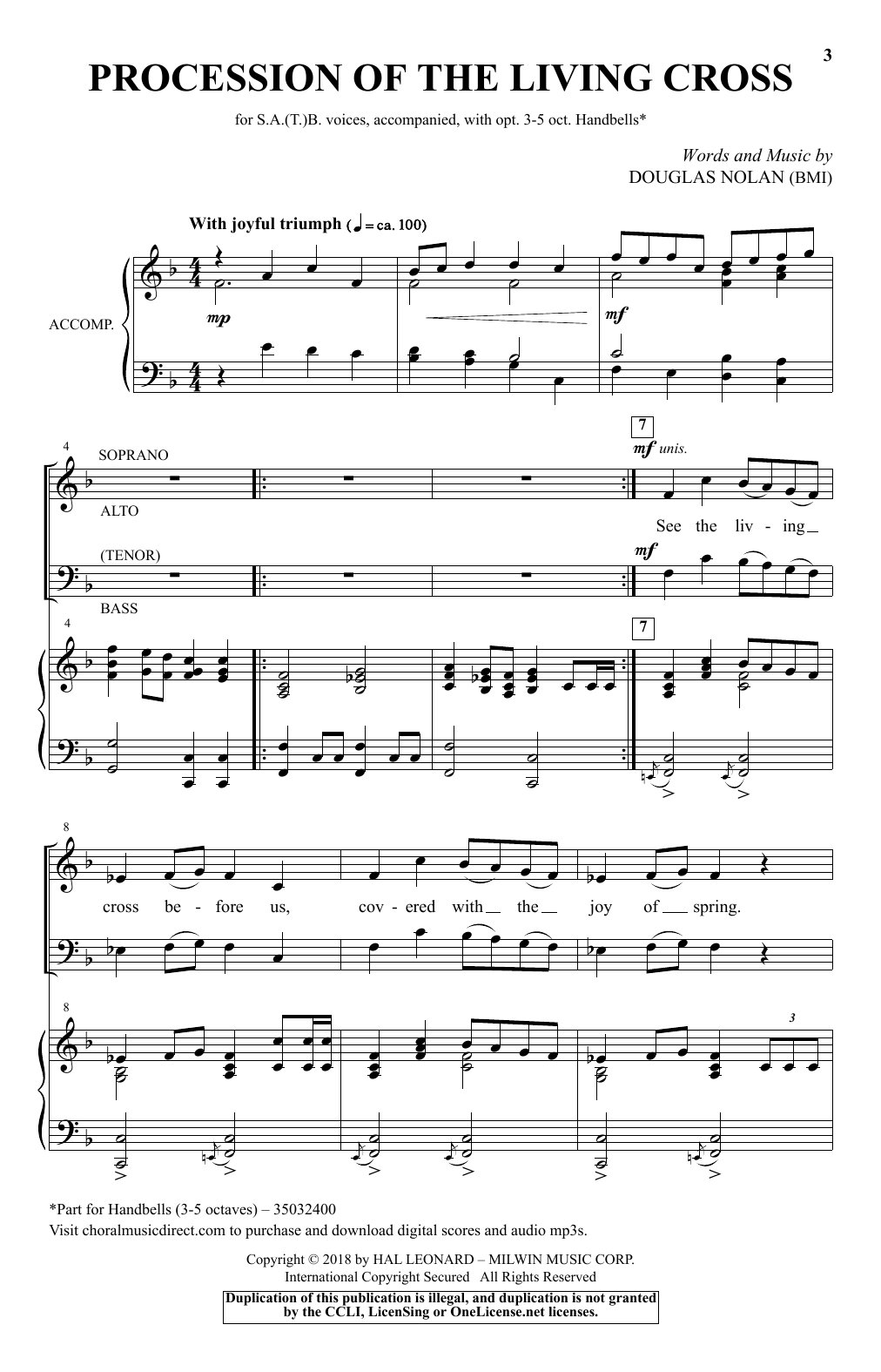 Procession Of The Living Cross (SATB Choir)