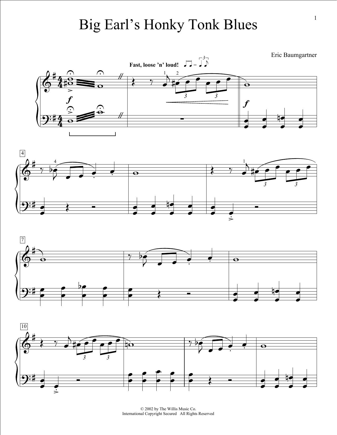 Big Earl's Honky-Tonk Blues (Educational Piano)