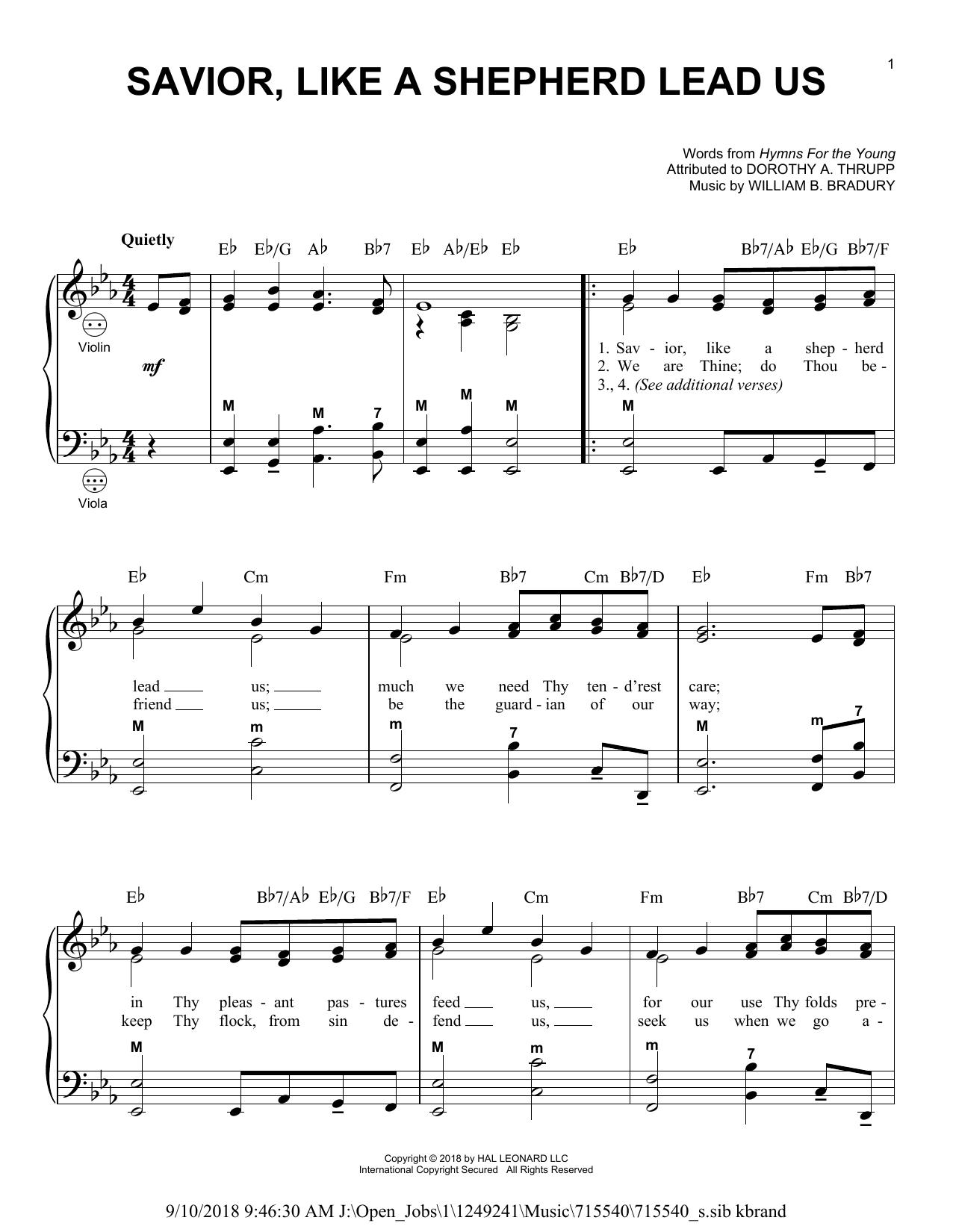 Savior, Like A Shepherd Lead Us (Accordion)