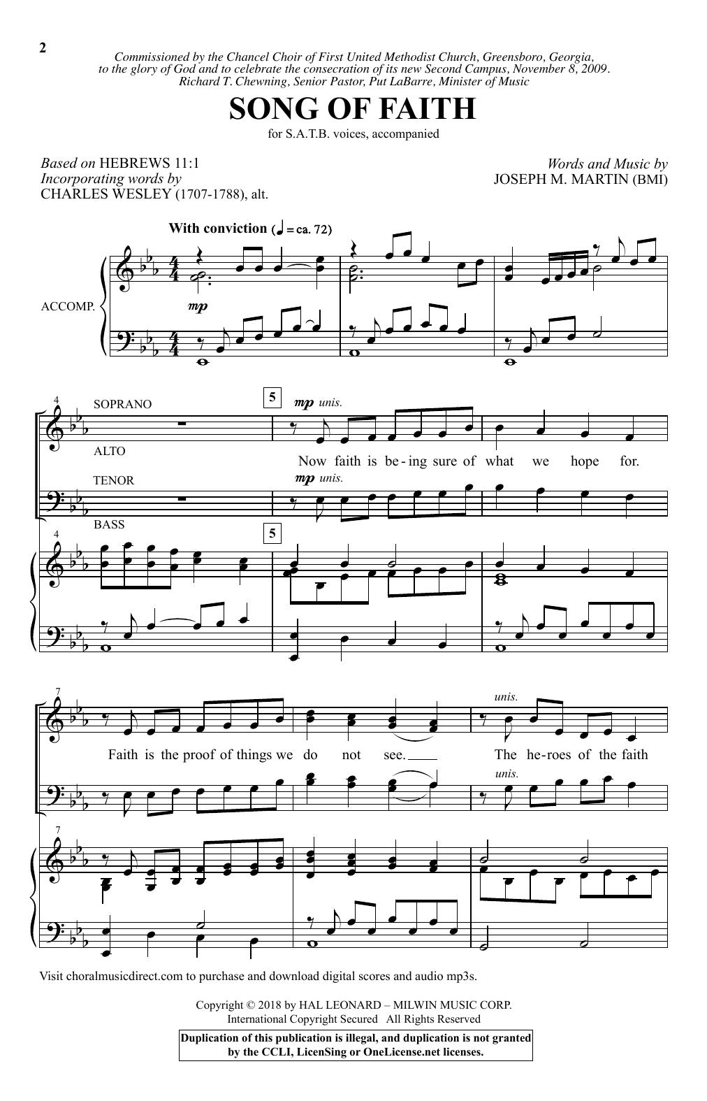 Song Of Faith (SATB Choir)