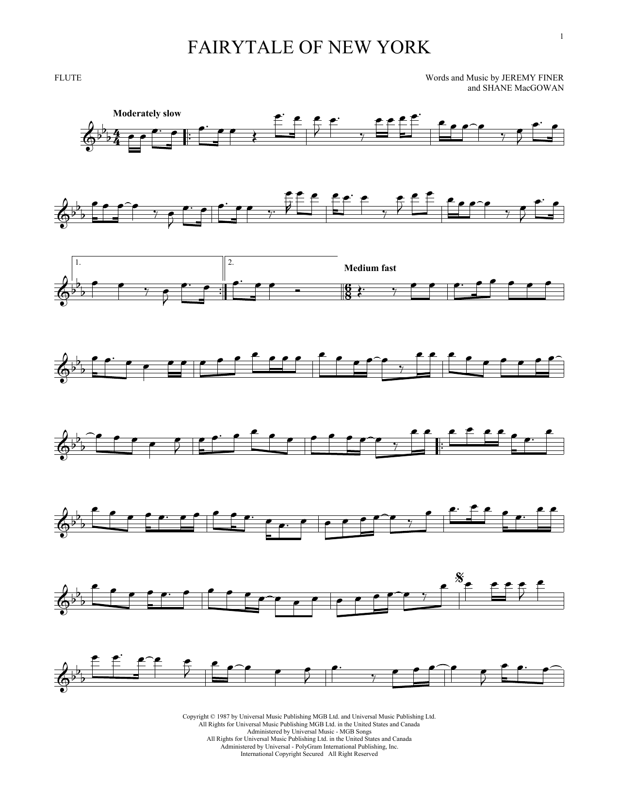 Fairytale Of New York (Flute Solo)