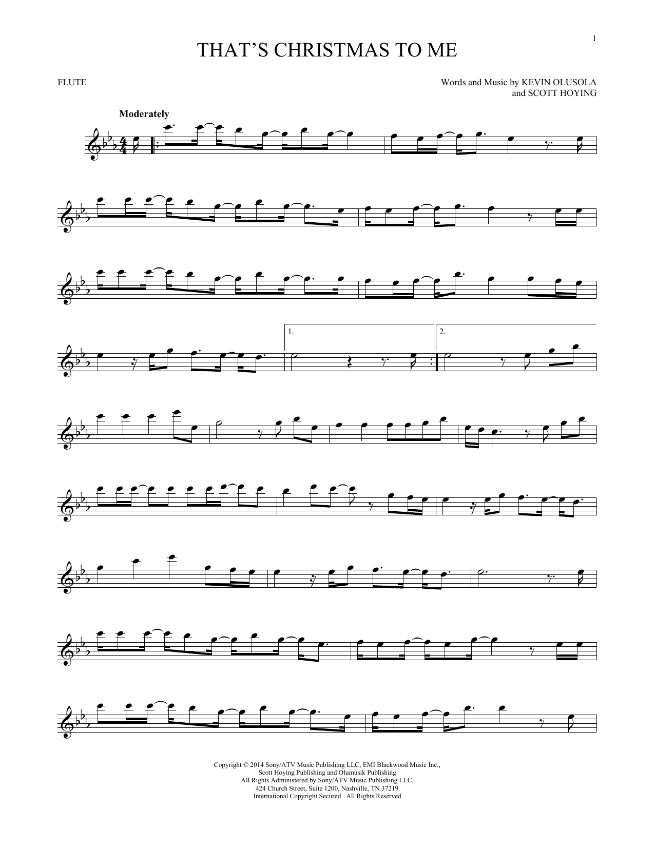 That's Christmas To Me (Flute Solo)