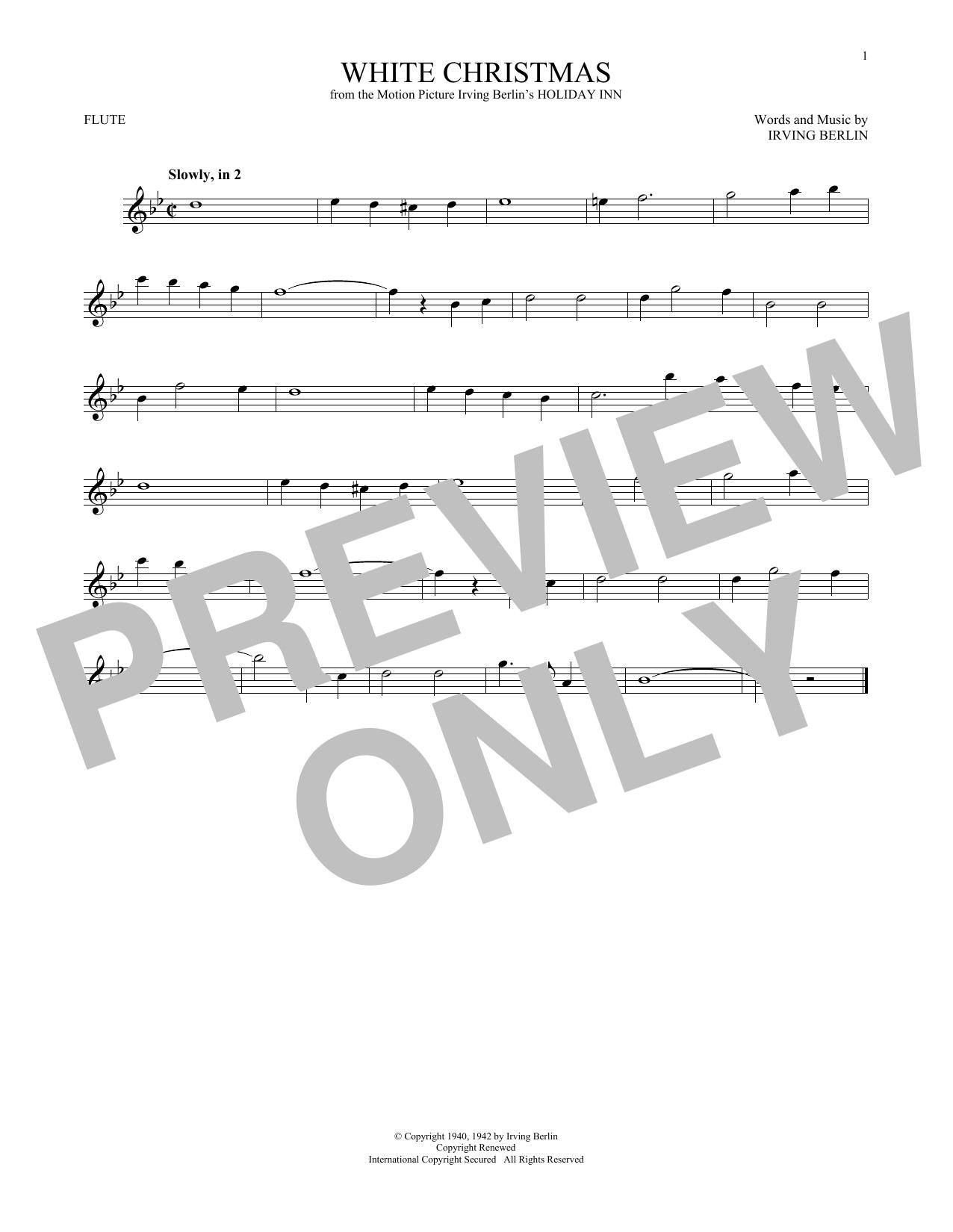 White Christmas (Flute Solo)