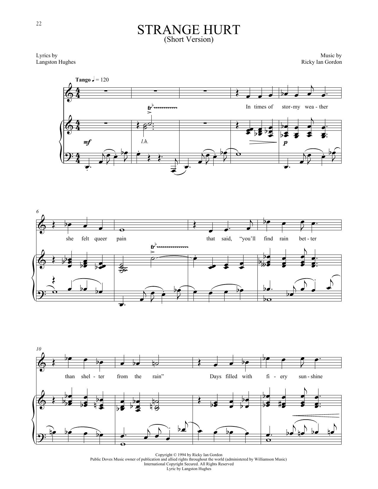 Strange Hurt [Short version] (Piano & Vocal)