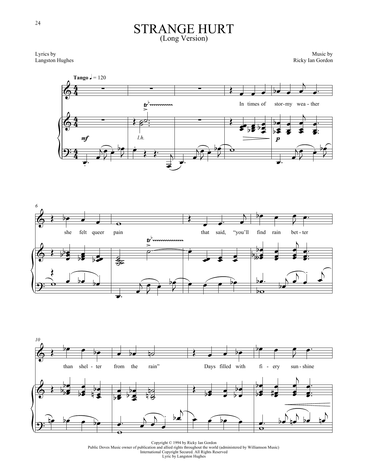 Strange Hurt [Long version] (Piano & Vocal)