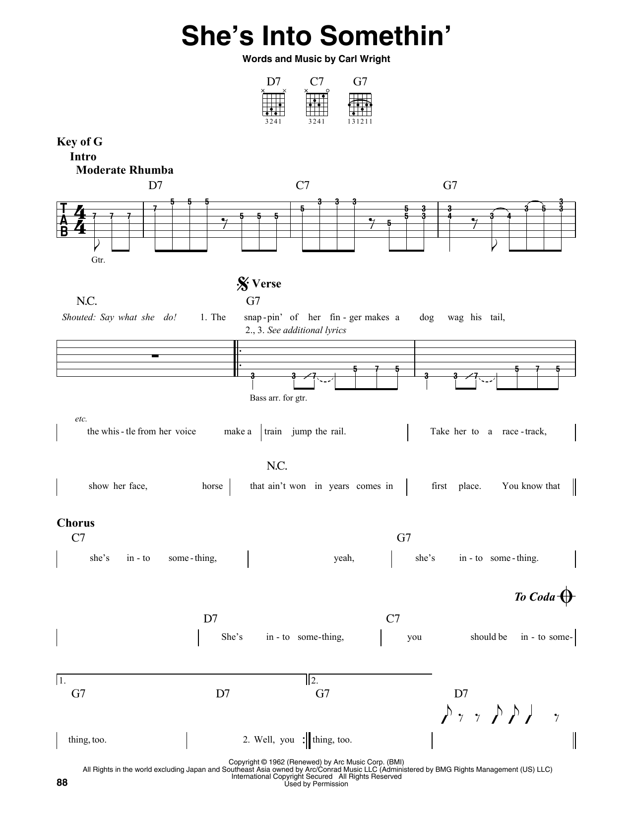 She's Into Somethin' (Guitar Lead Sheet)