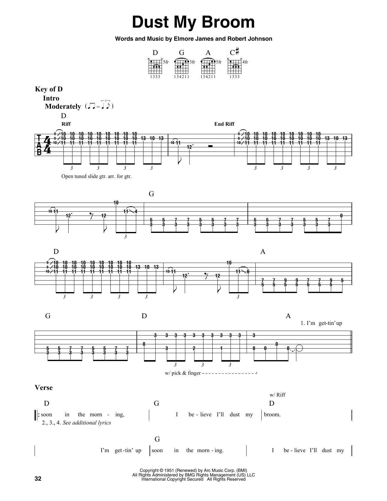 Dust My Broom (Guitar Lead Sheet)